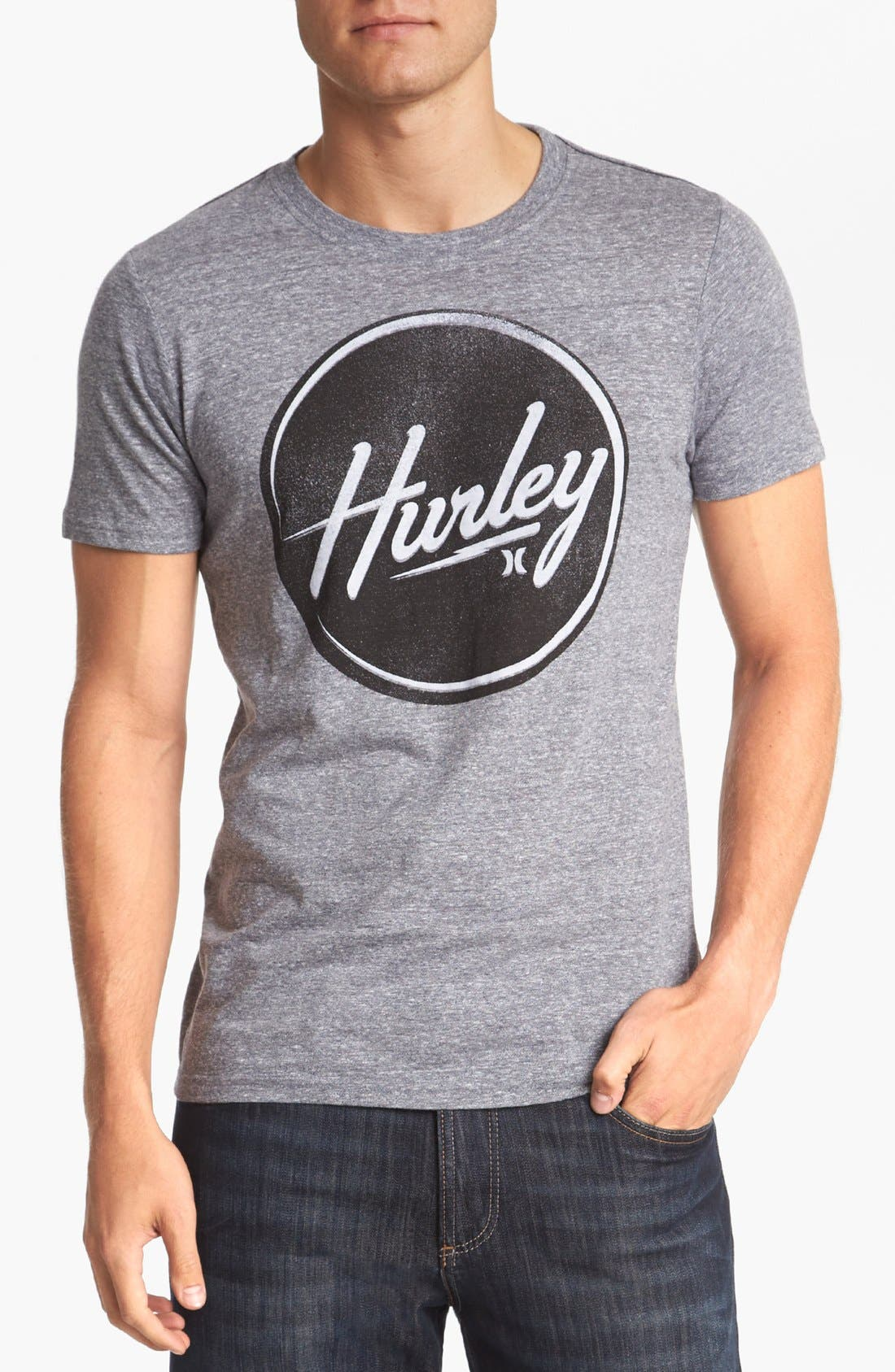 Alternate Image 1 Selected - Hurley 'Stamped Out' T-Shirt