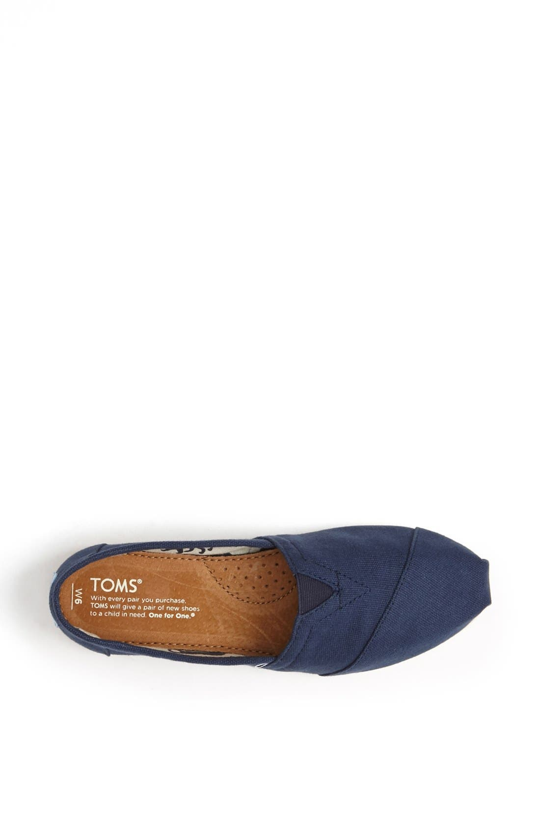 Alternate Image 3  - TOMS 'Classic' Canvas Slip-On (Women)