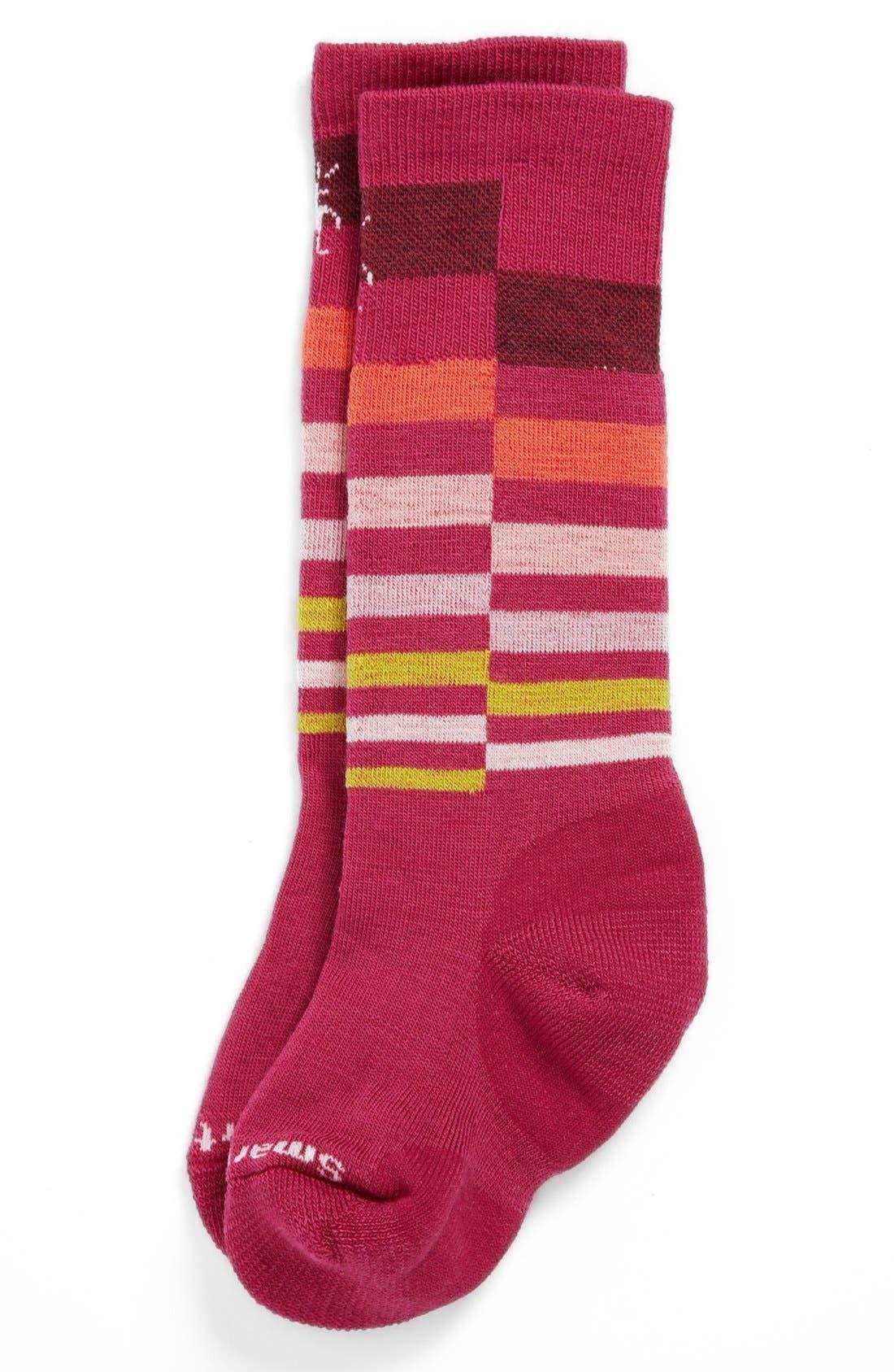Alternate Image 1 Selected - Smartwool 'Wintersport Stripe' Socks (Little Girls & Big Girls)