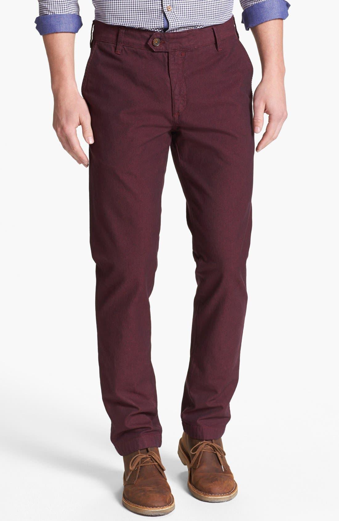 Alternate Image 1 Selected - Ted Baker London 'Yayzerz' Overdyed Herringbone Pants