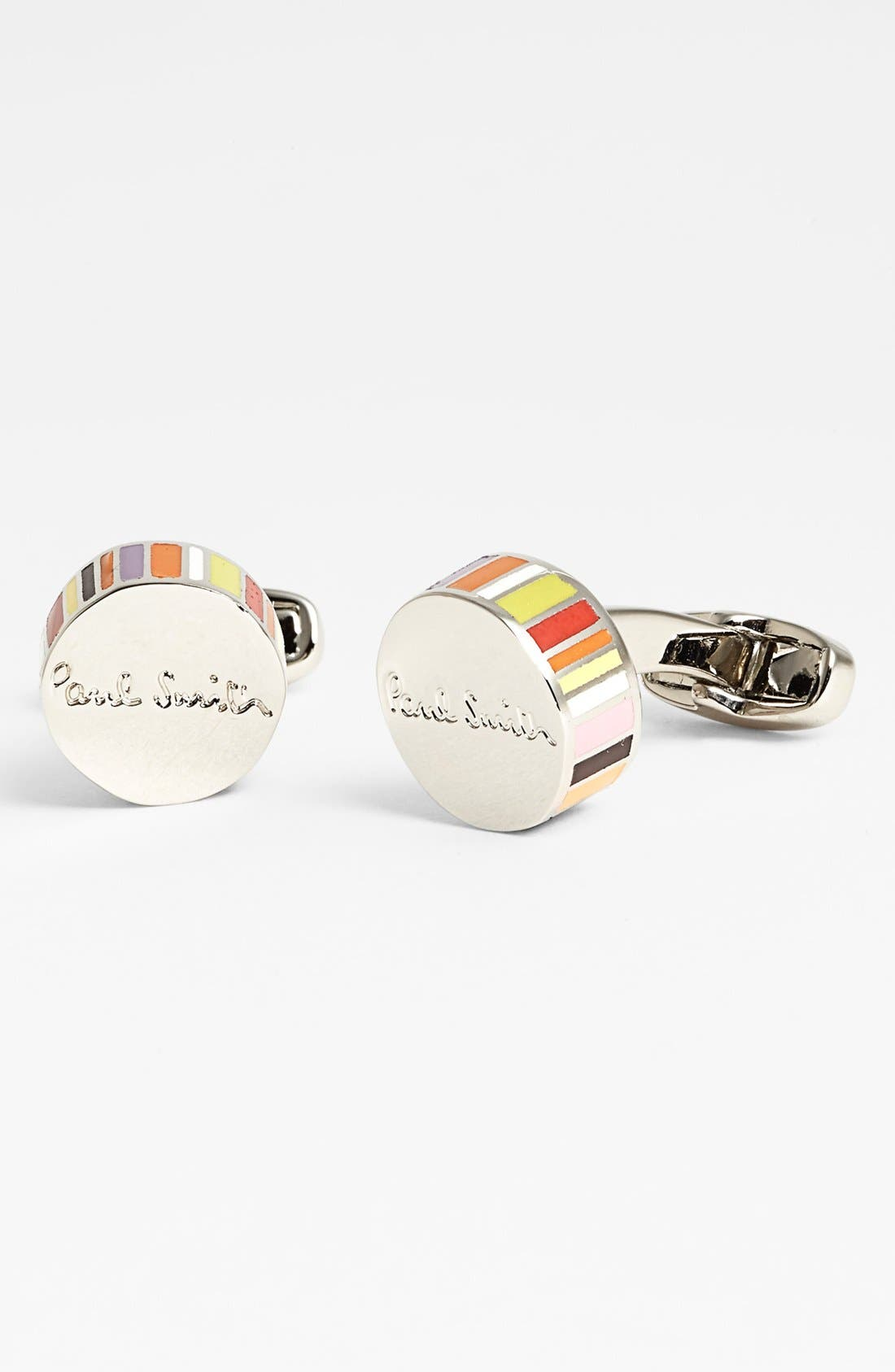 Alternate Image 1 Selected - Paul Smith Accessories Multi Stripe Round Cuff Links