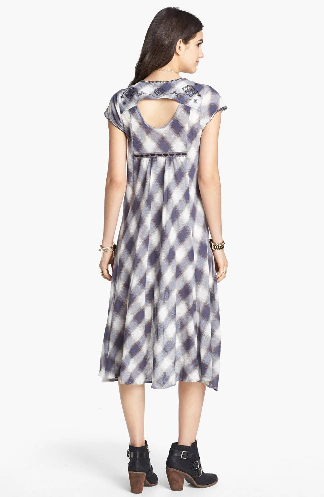 Alternate Image 2  - Free People 'Rad for Plaid' Cutout High/Low Dress
