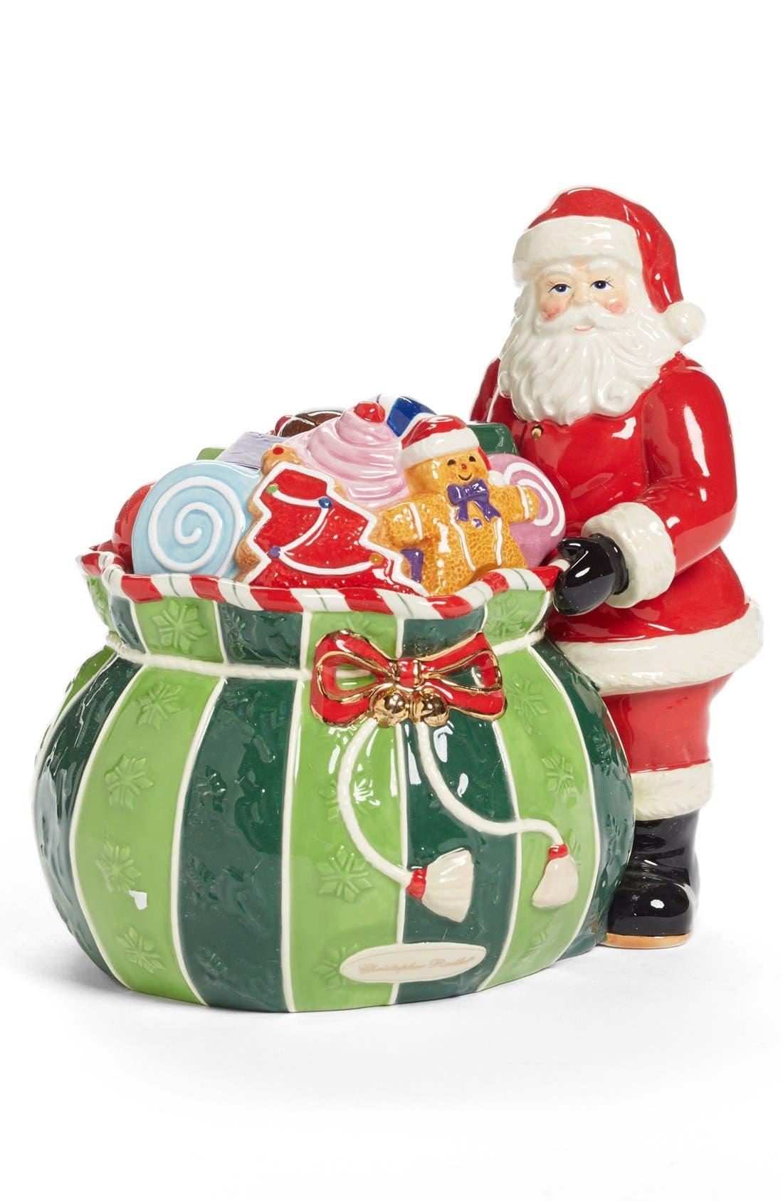 Alternate Image 1 Selected - Christopher Radko 'Splendid Santa' Candy Jar