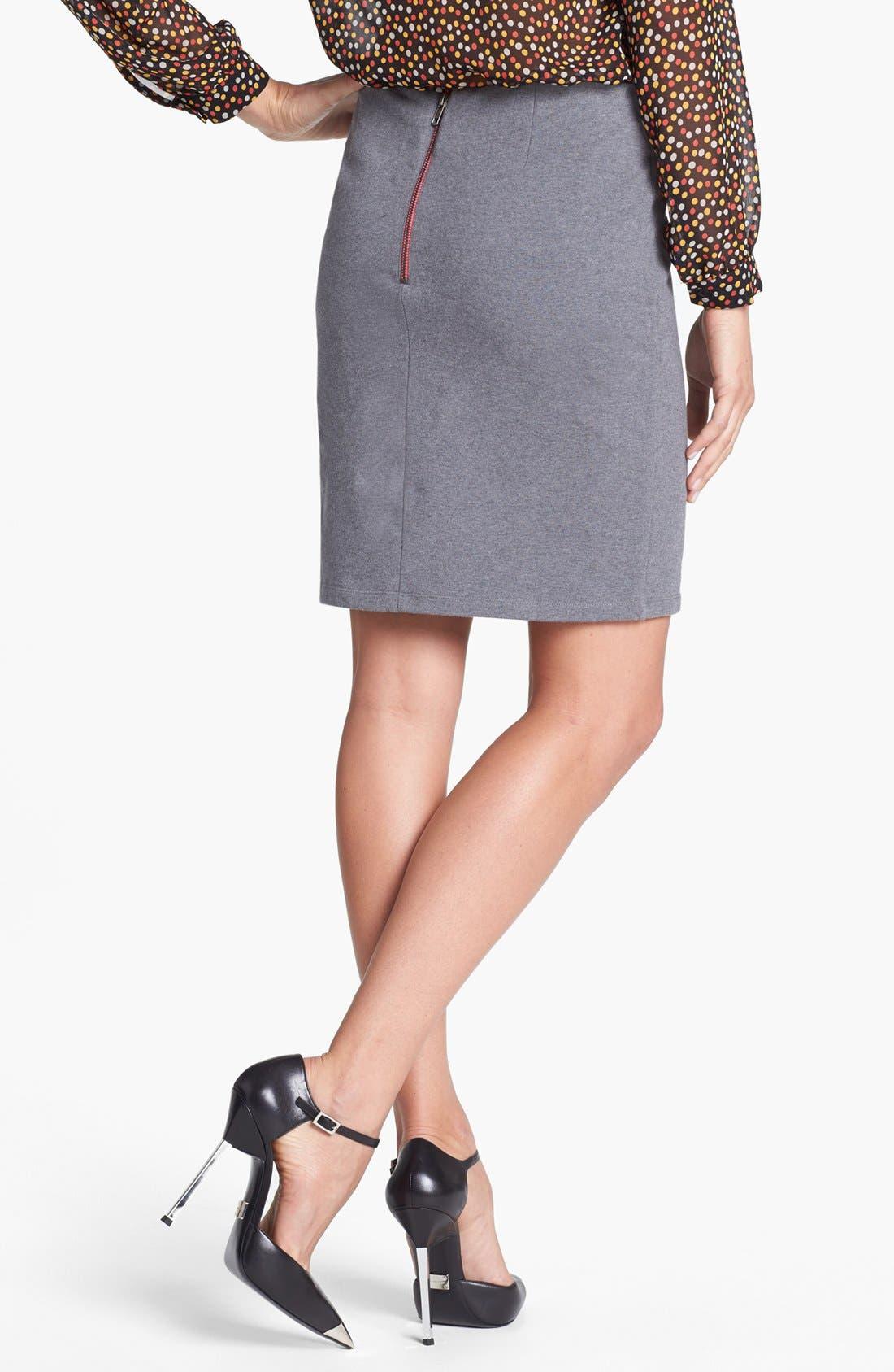 Alternate Image 2  - Halogen® Stripe French Terry Skirt