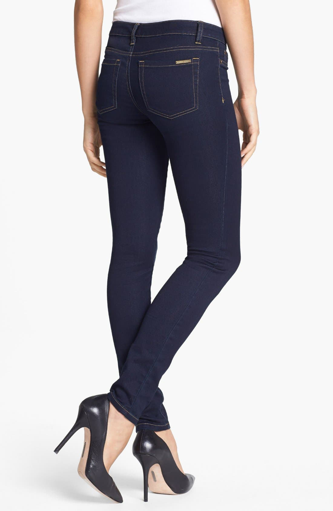 Alternate Image 2  - MICHAEL Michael Kors Stretch Skinny Jeans (Twilight) (Petite)