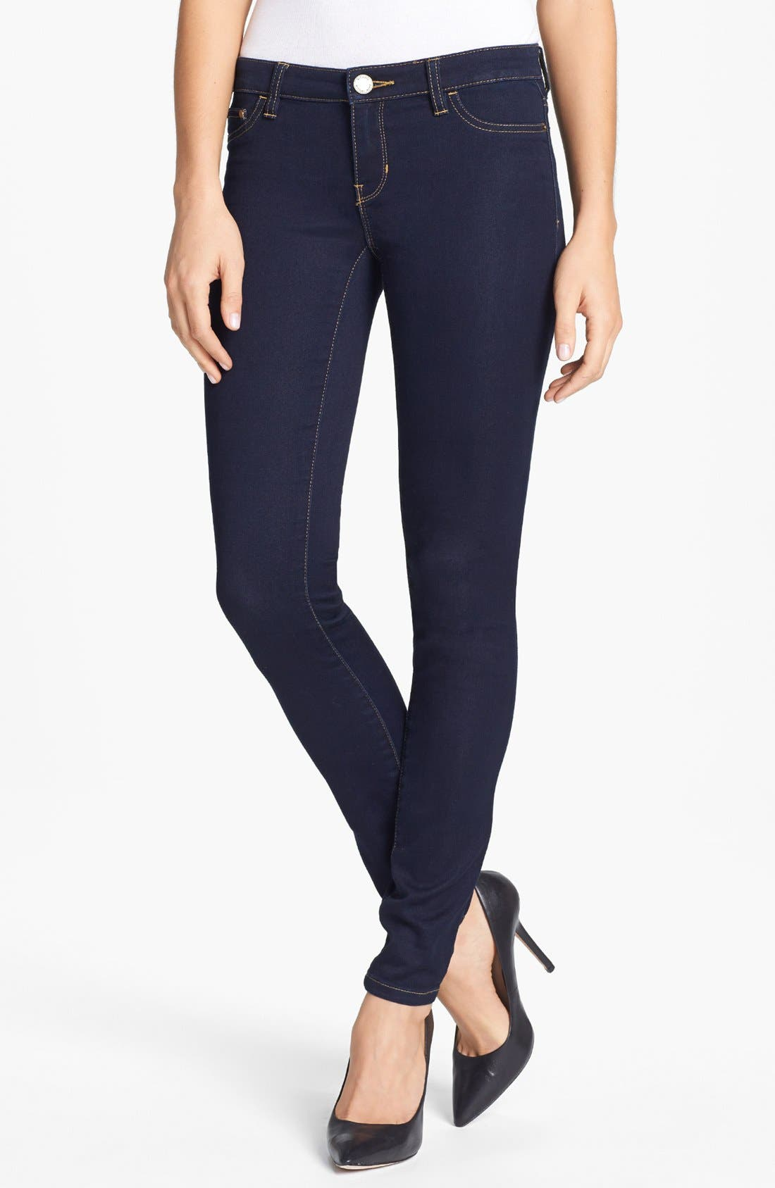 Alternate Image 1 Selected - MICHAEL Michael Kors Stretch Skinny Jeans (Twilight) (Petite)