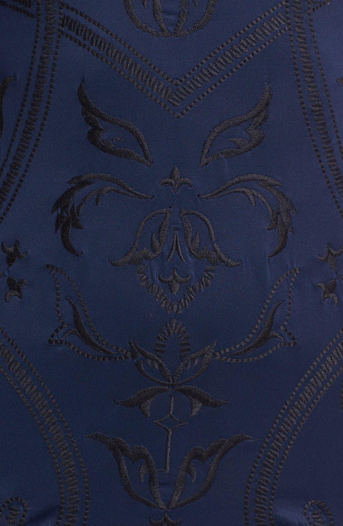 Alternate Image 3  - ASTR Embroidered Body-Con Dress