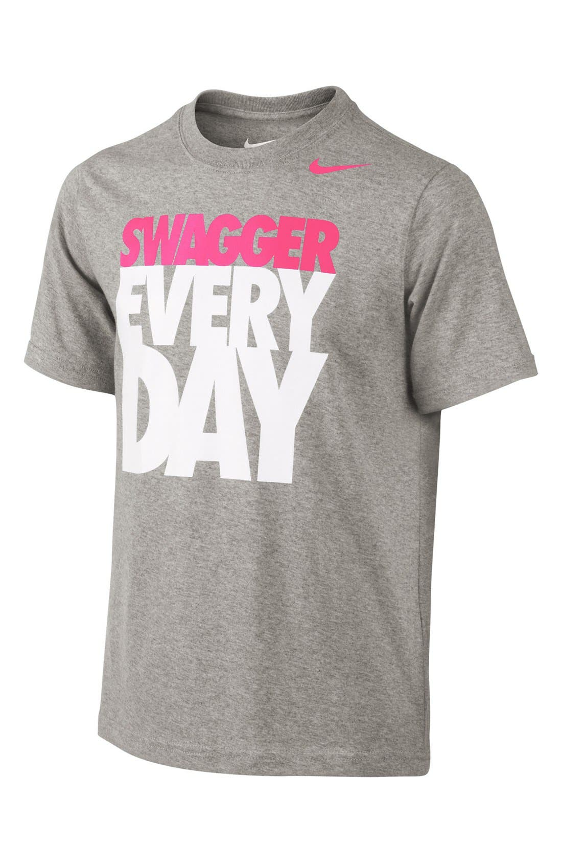 Alternate Image 1 Selected - Nike 'Swagger Every Day' T-Shirt (Big Boys)