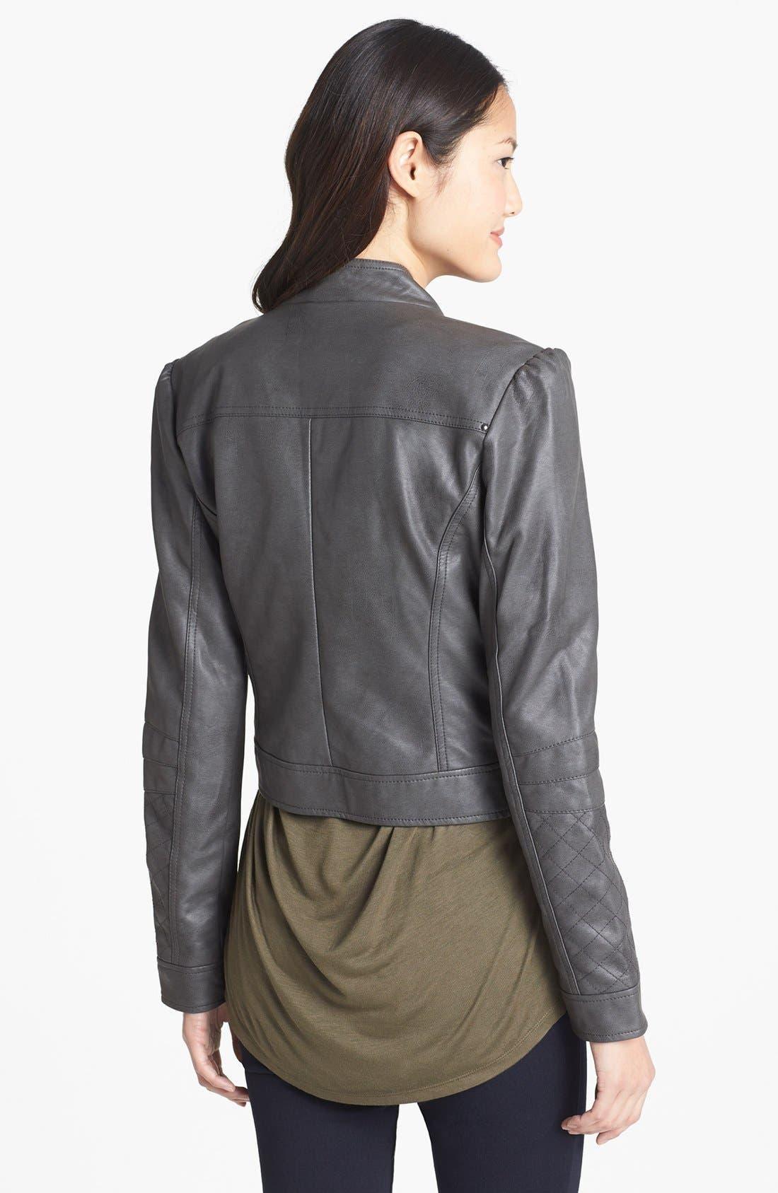 Alternate Image 3  - Jessica Simpson 'Trey' Faux Leather Moto Jacket