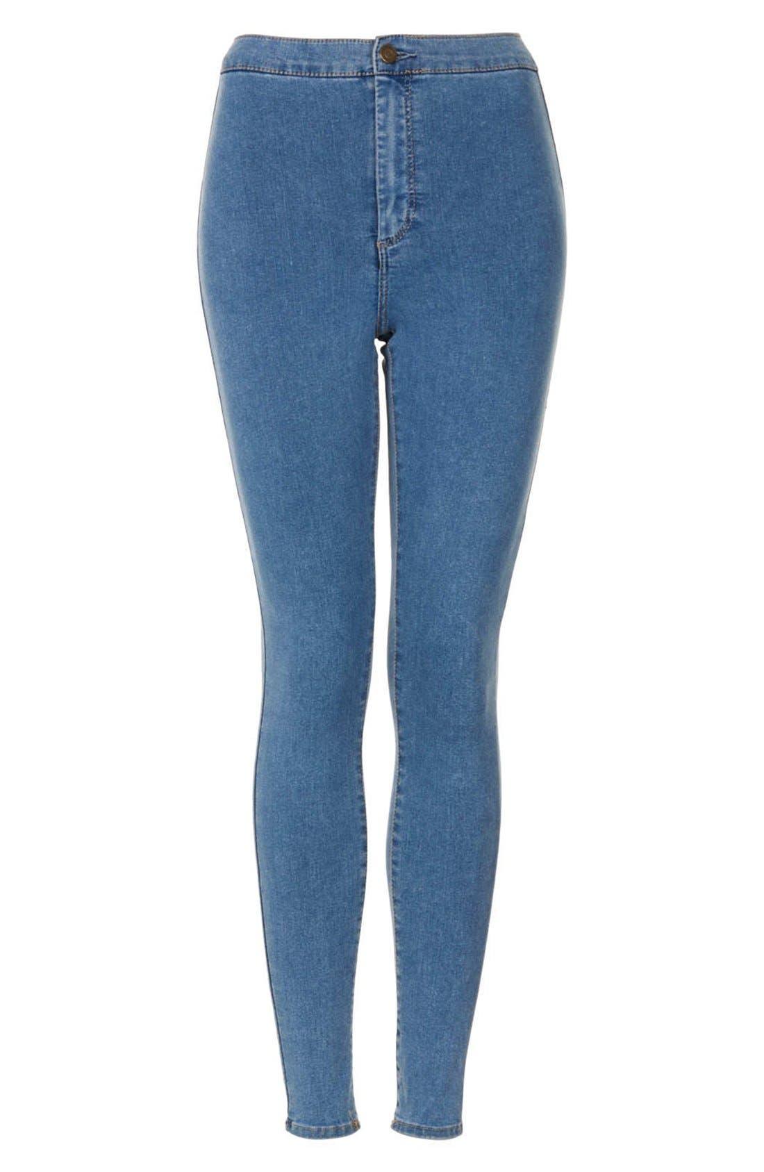 Alternate Image 3  - Topshop Moto 'Joni' High Rise Skinny Jeans (Mid Stone) (Short)
