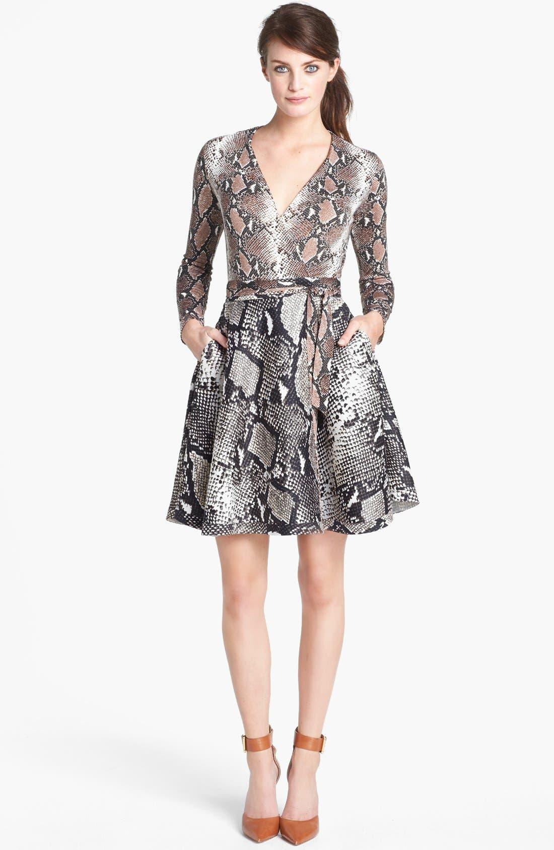 Main Image - Diane von Furstenberg 'Amelia' Knit Silk Wrap Dress
