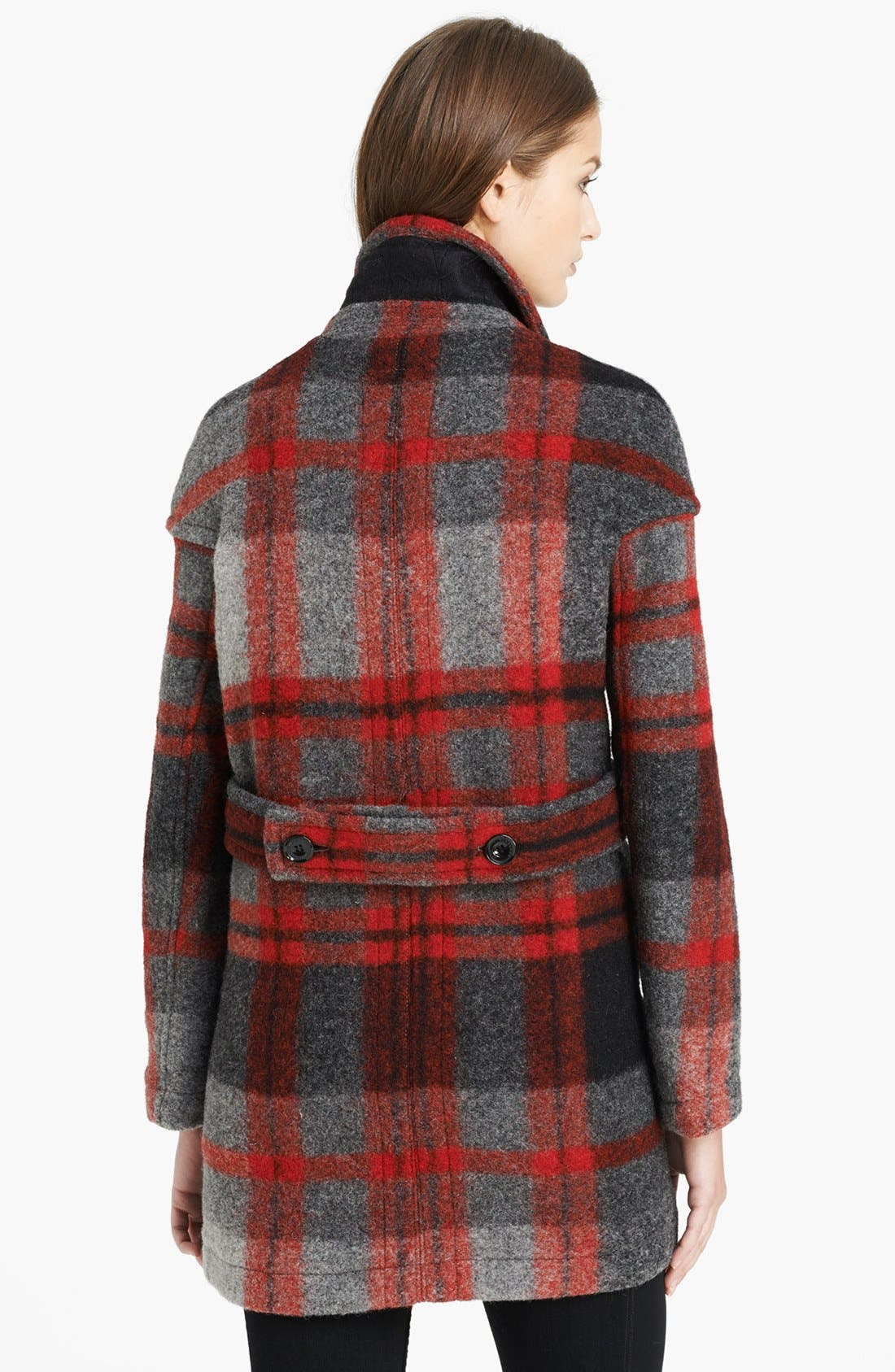 Alternate Image 2  - Burberry Brit 'Sharford' Plaid Coat