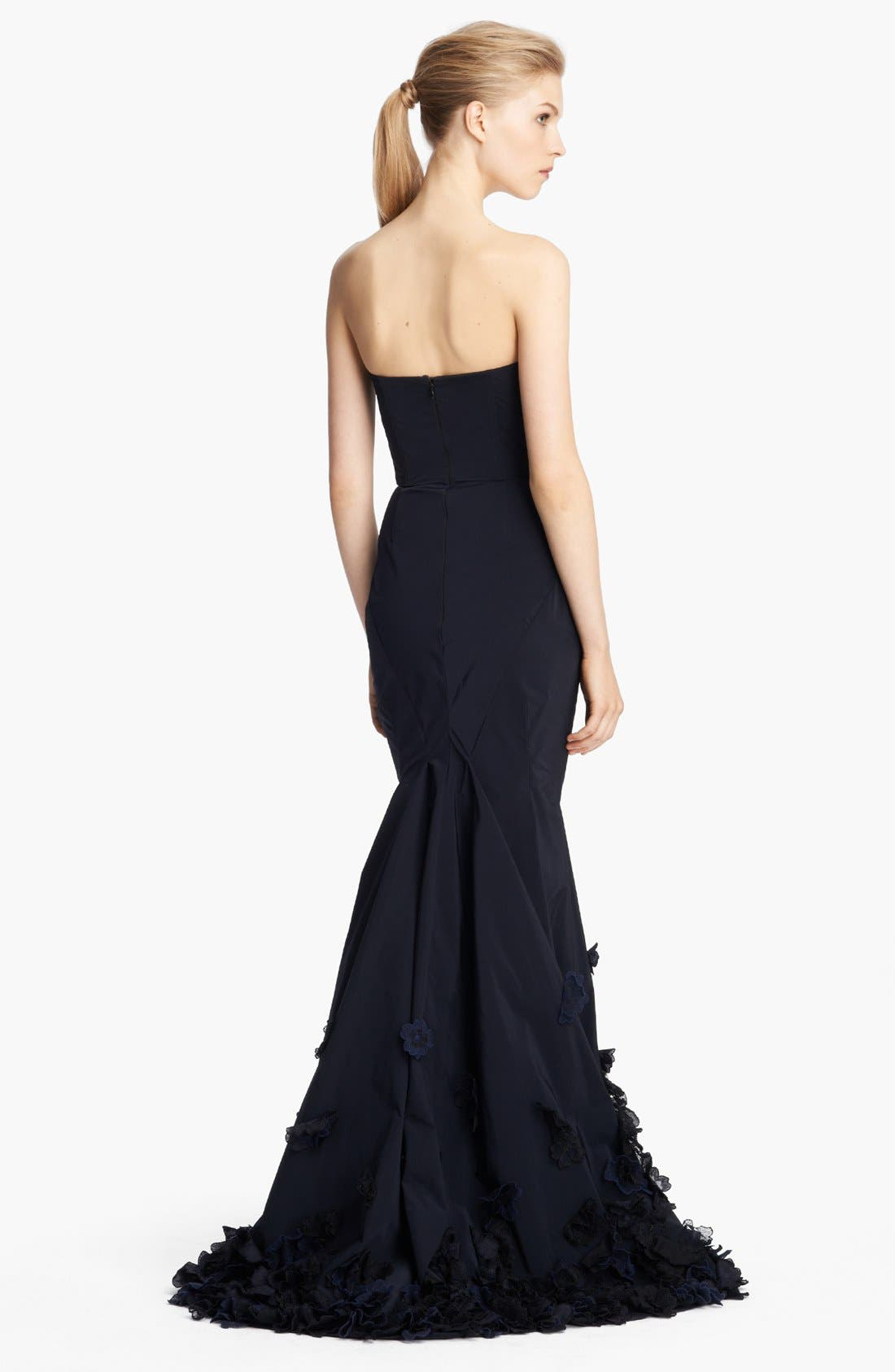 Alternate Image 2  - Nina Ricci Strapless Floral Embroidered Gown