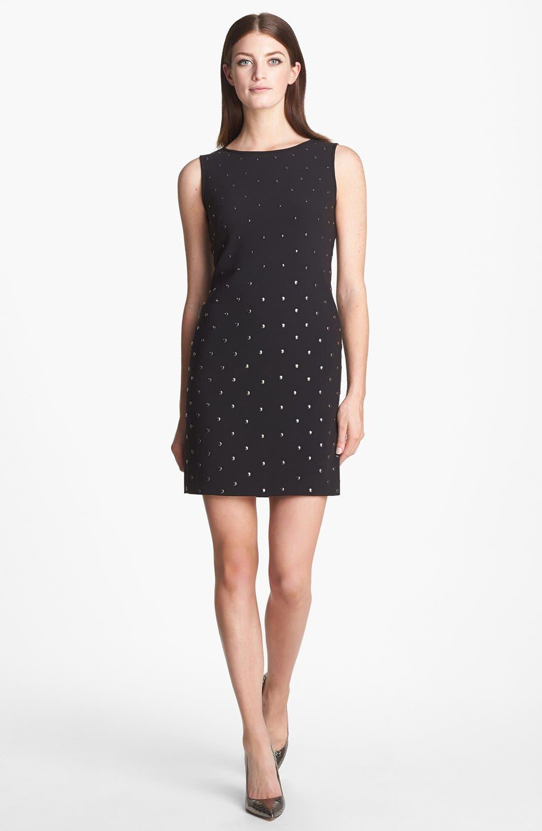 Main Image - Aidan by Aidan Mattox Studded Ponte Knit Sheath Dress