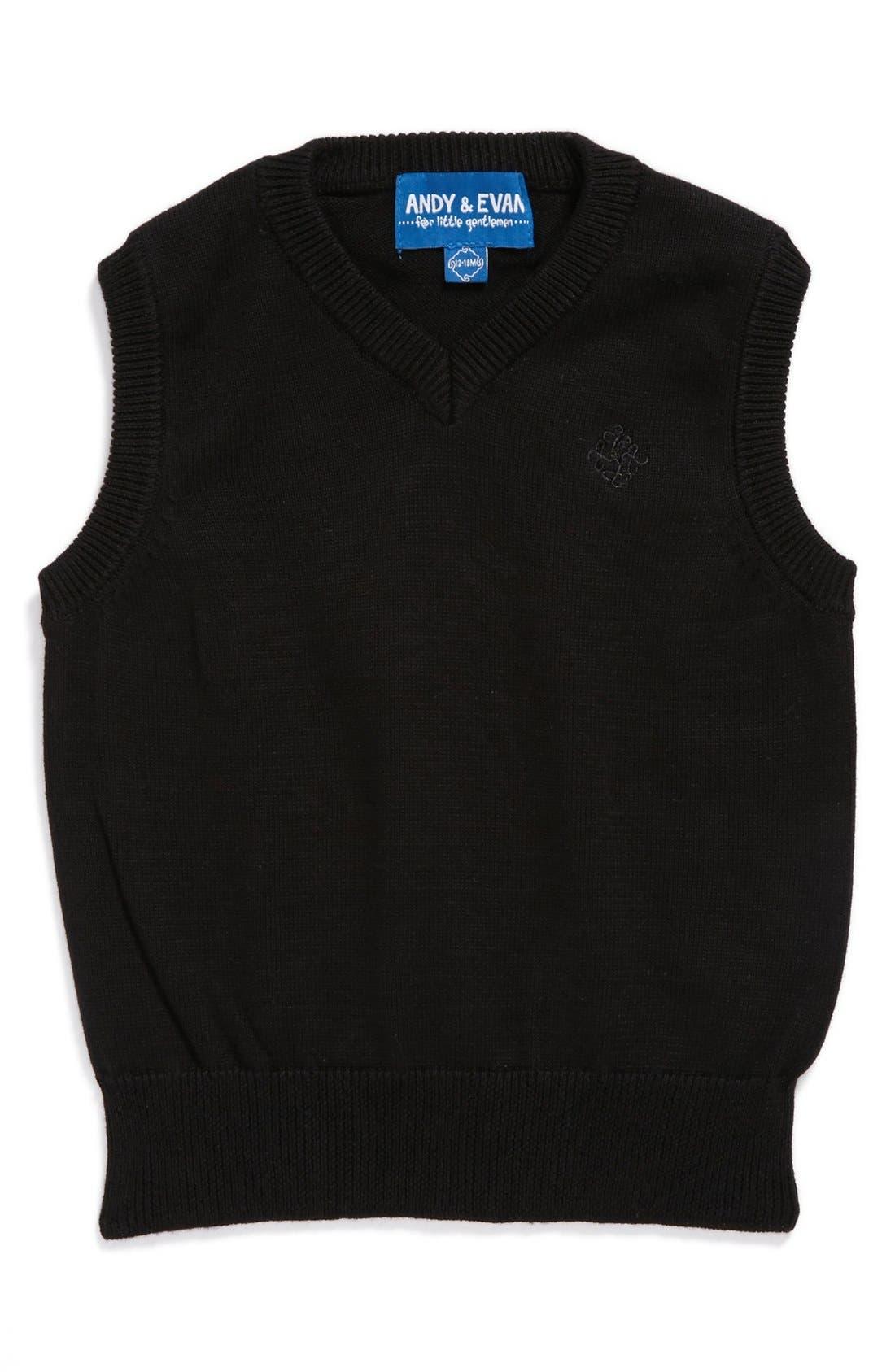 Main Image - Andy & Evan for little gentlemen Sweater Vest (Baby Boys)