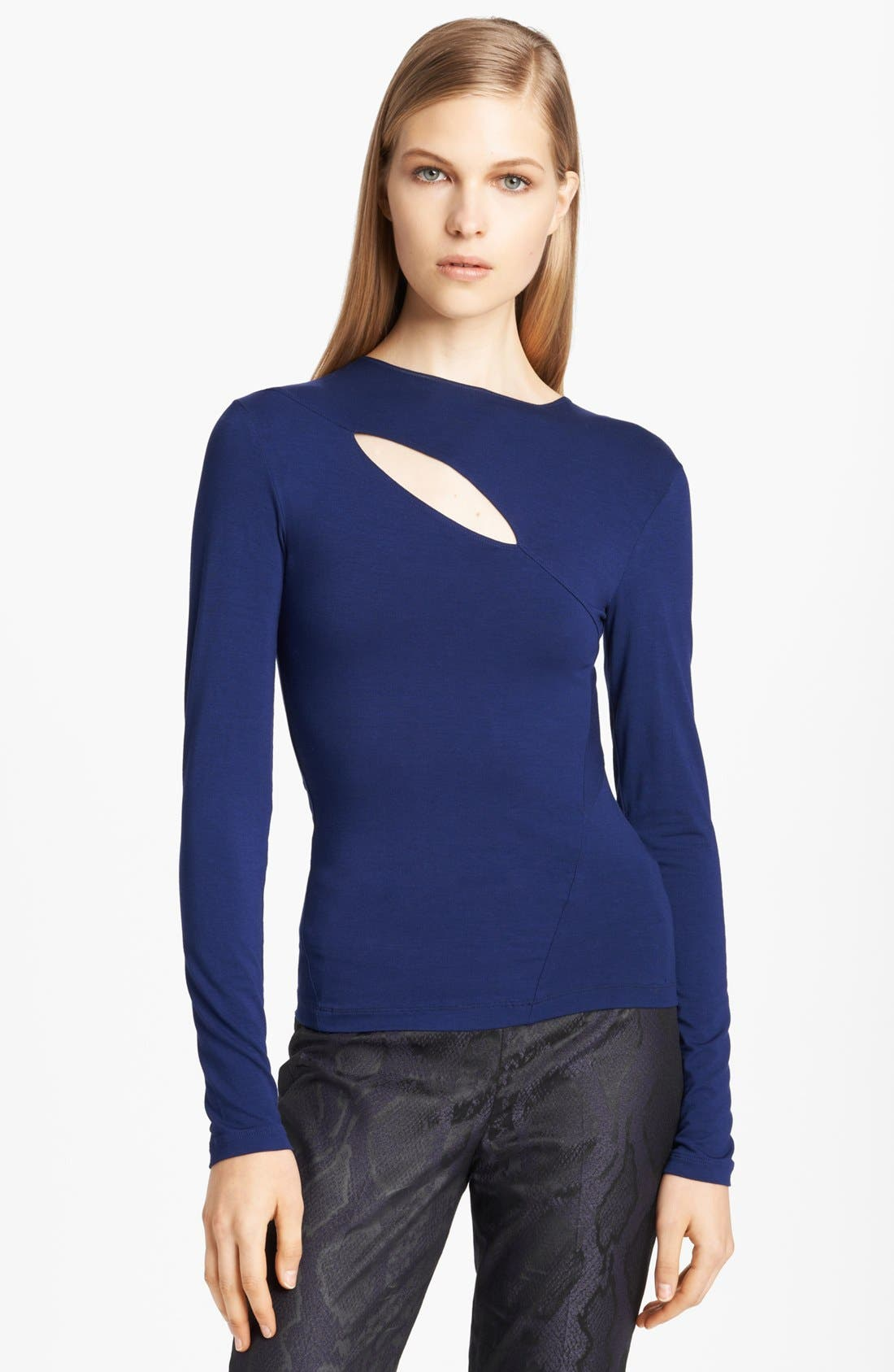 Alternate Image 1 Selected - Donna Karan Collection Slash Neckline Jersey Top