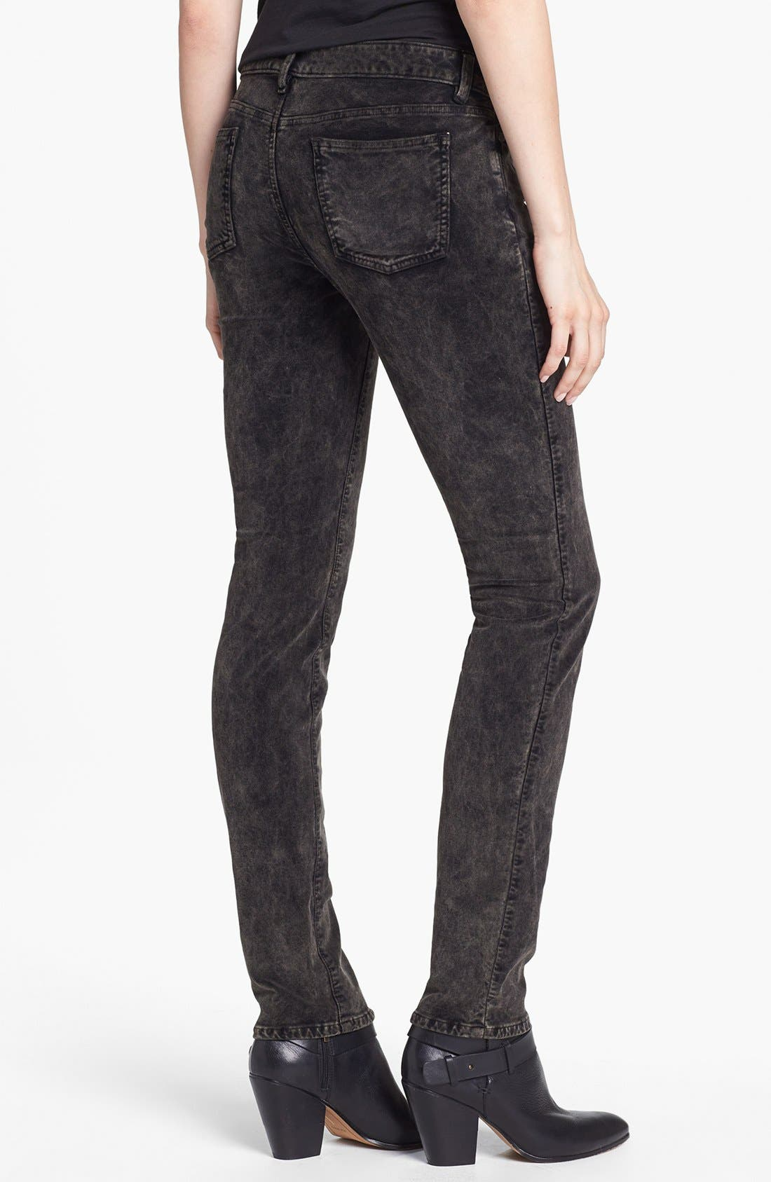 Alternate Image 2  - Eileen Fisher Stretch Velveteen Skinny Jeans
