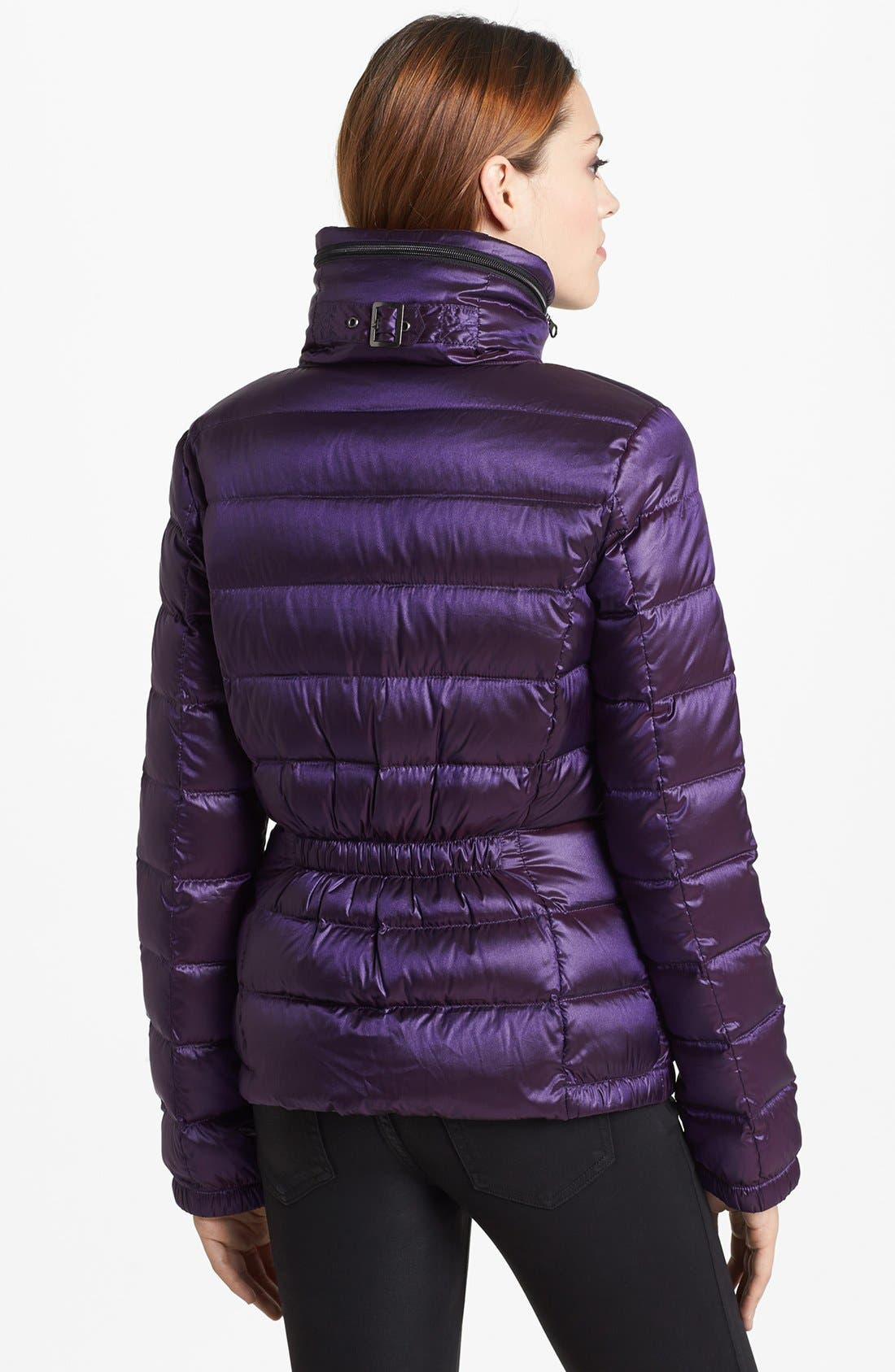 Alternate Image 2  - Bernardo Ruched Back Packable Goose Down Jacket