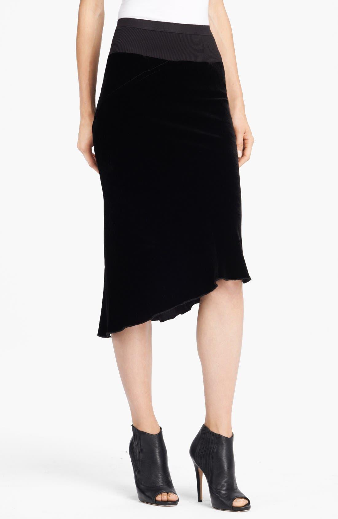 Main Image - Rick Owens Velvet Skirt