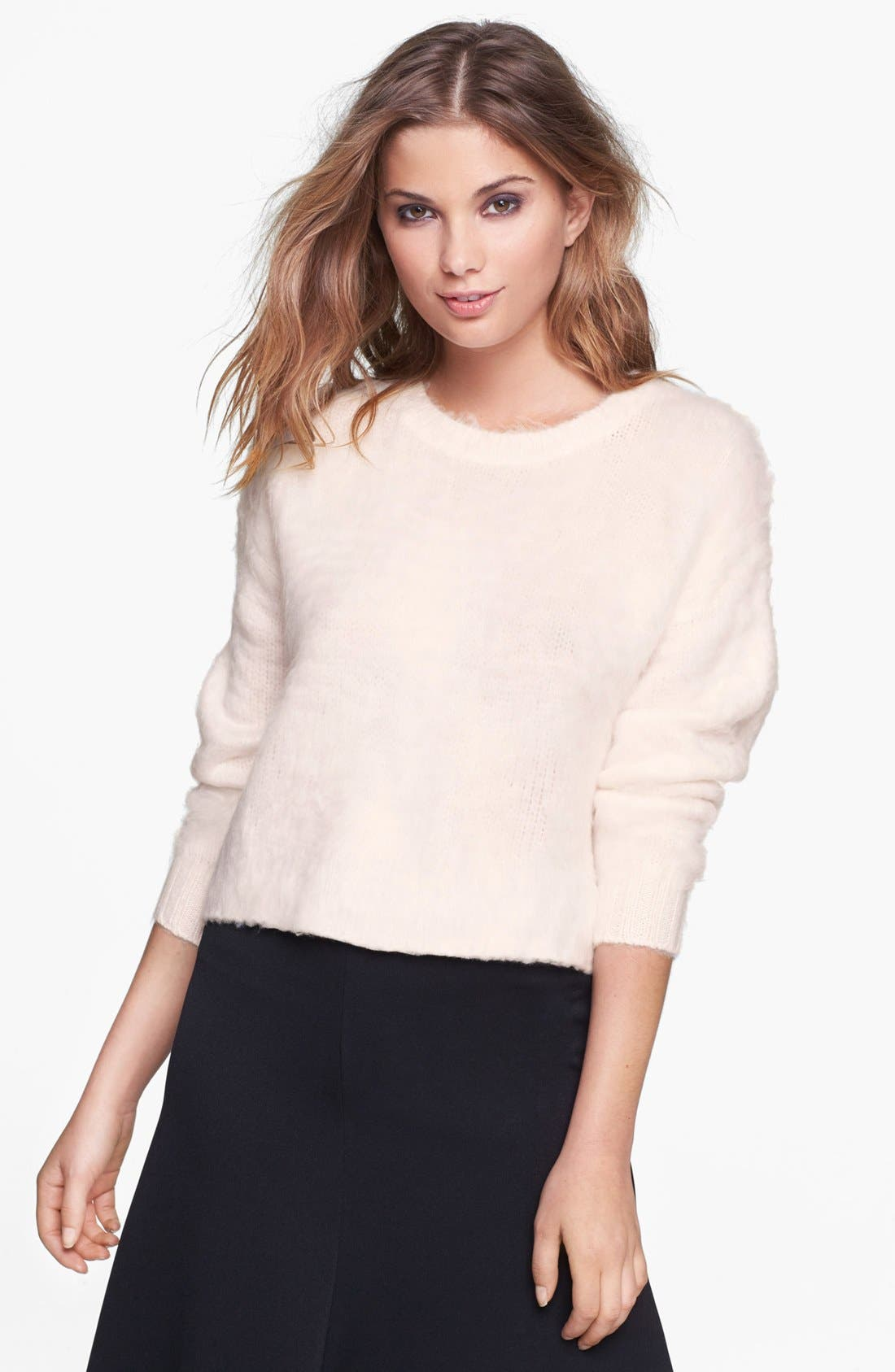 Main Image - Leith Fuzzy Crop Pullover