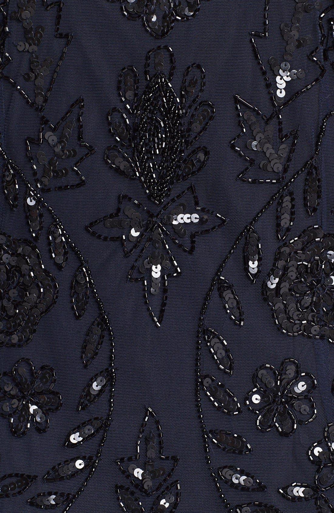 Alternate Image 3  - Pisarro Nights Beaded Mesh Dress (Plus Size)