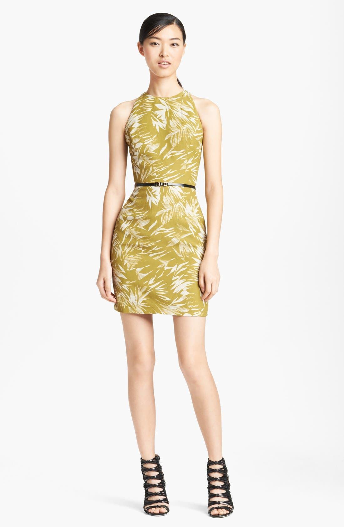 Main Image - Jason Wu Botanical Print Racerback Crepe Dress