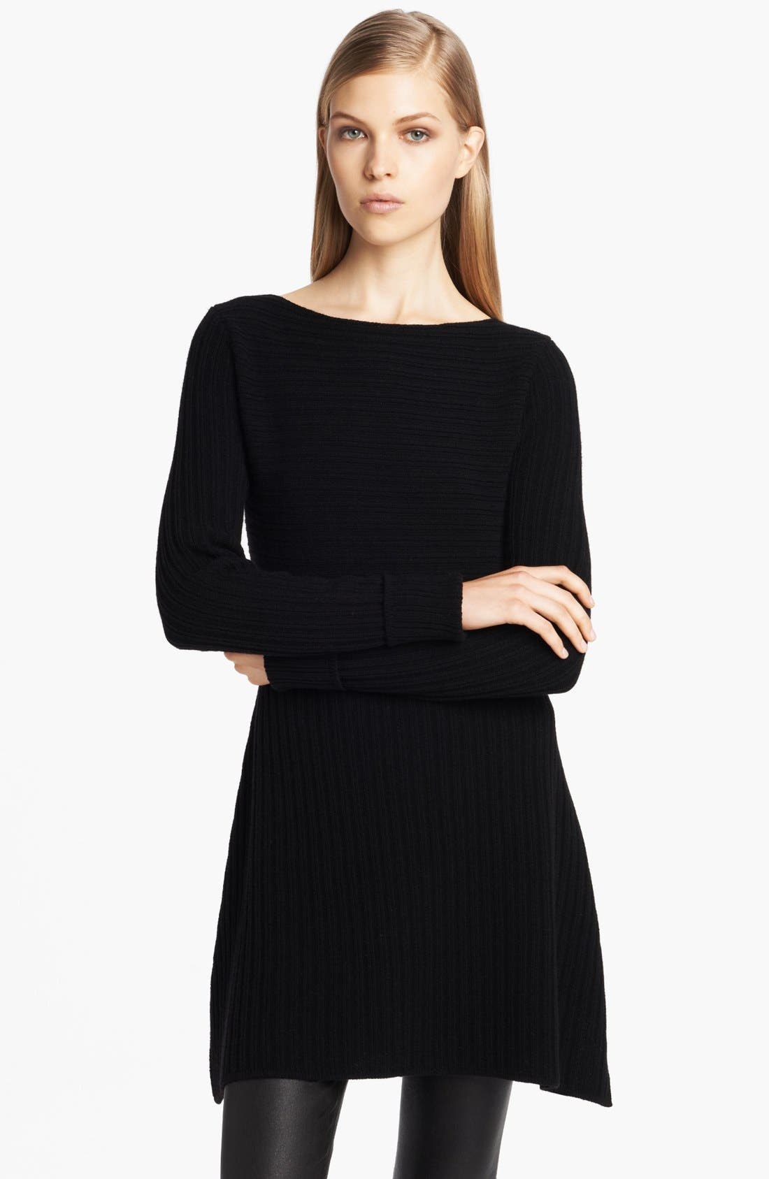 Main Image - Donna Karan Casual Luxe Ribbed Wool & Cashmere Tunic