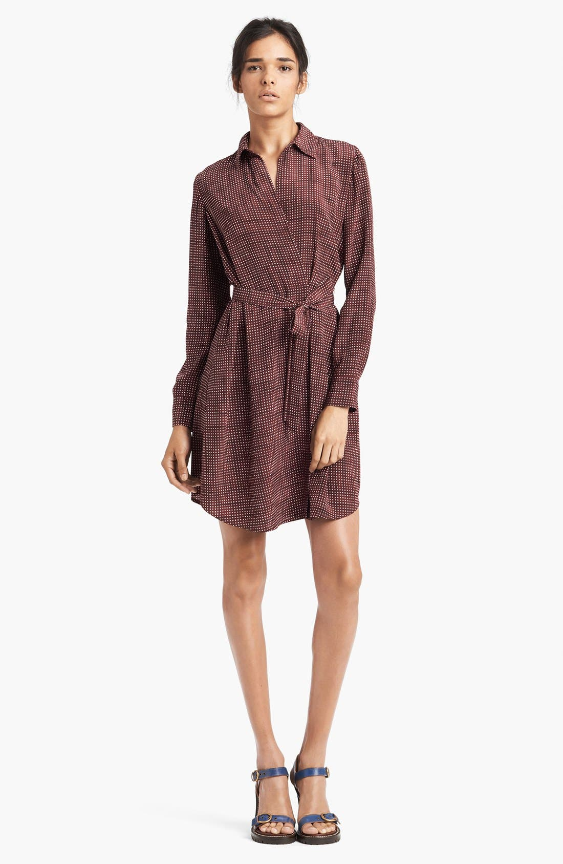 Main Image - MARC JACOBS Belted Silk Crepe Shirtdress