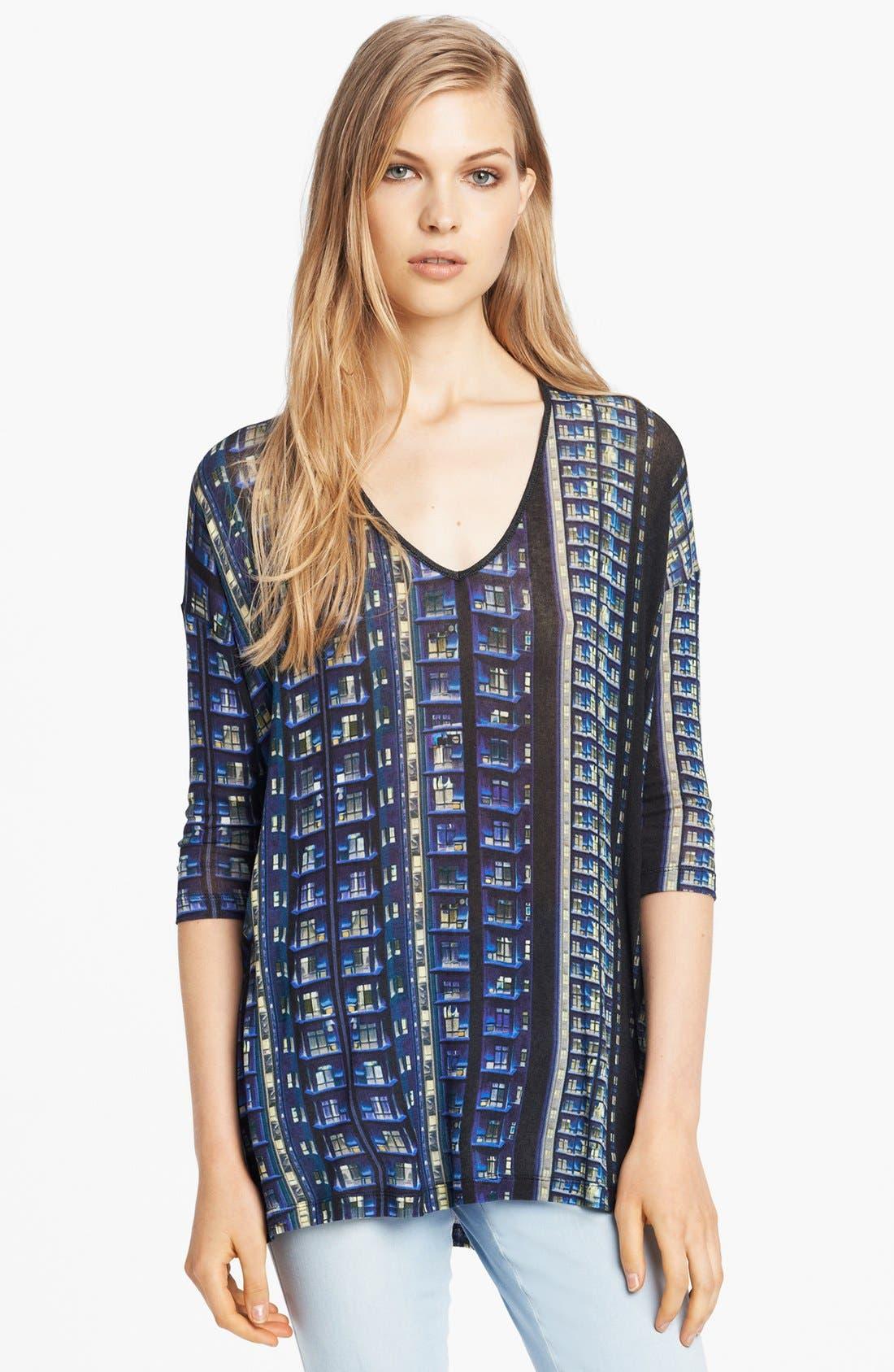 Main Image - Mary Katrantzou Print V-Neck Sweater