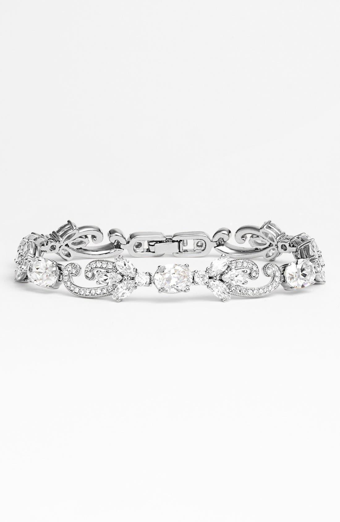 Main Image - Nadri Crystal Scroll Line Bracelet