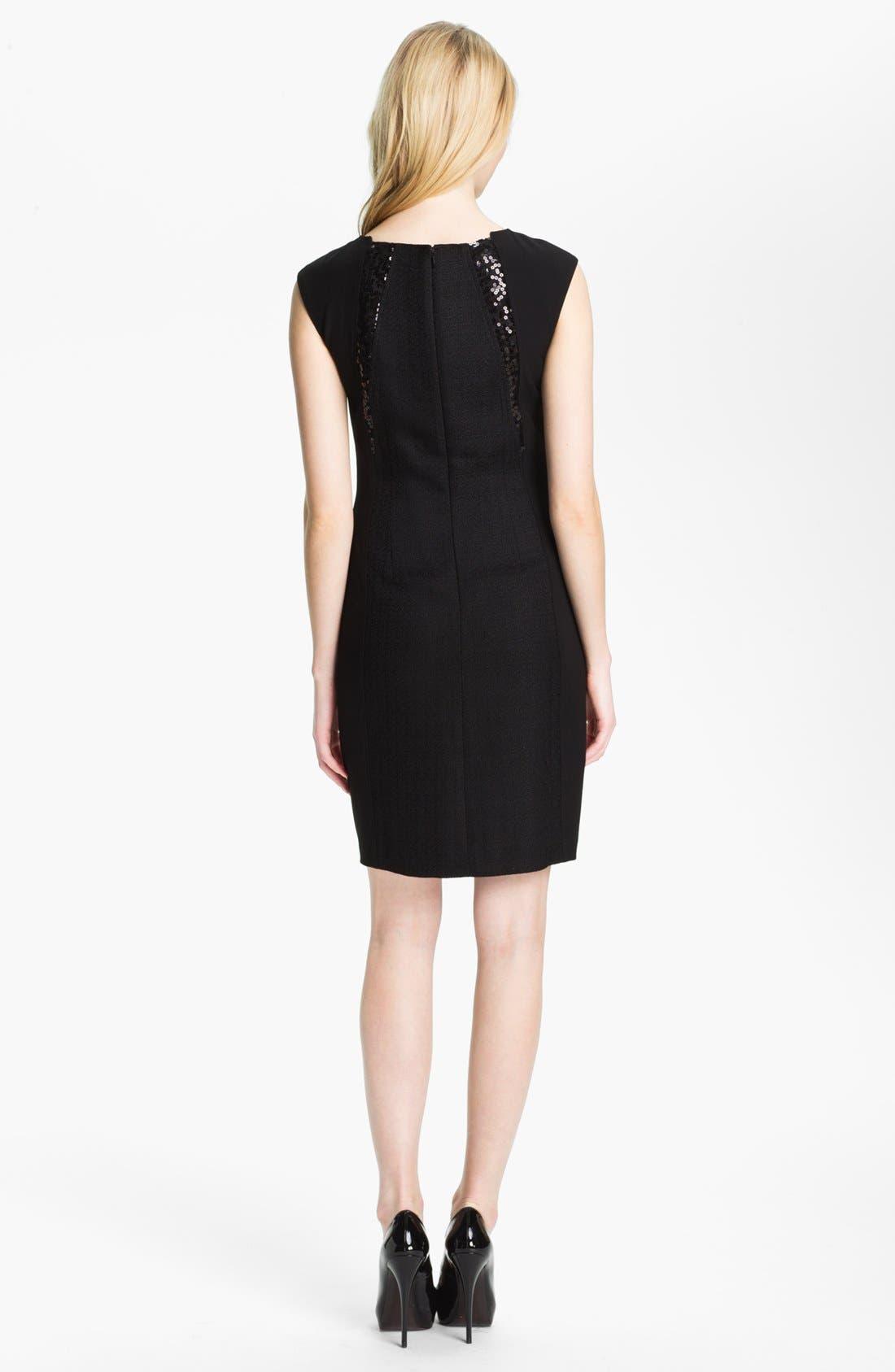 Alternate Image 2  - Ellen Tracy Sequin Trim Sheath Dress