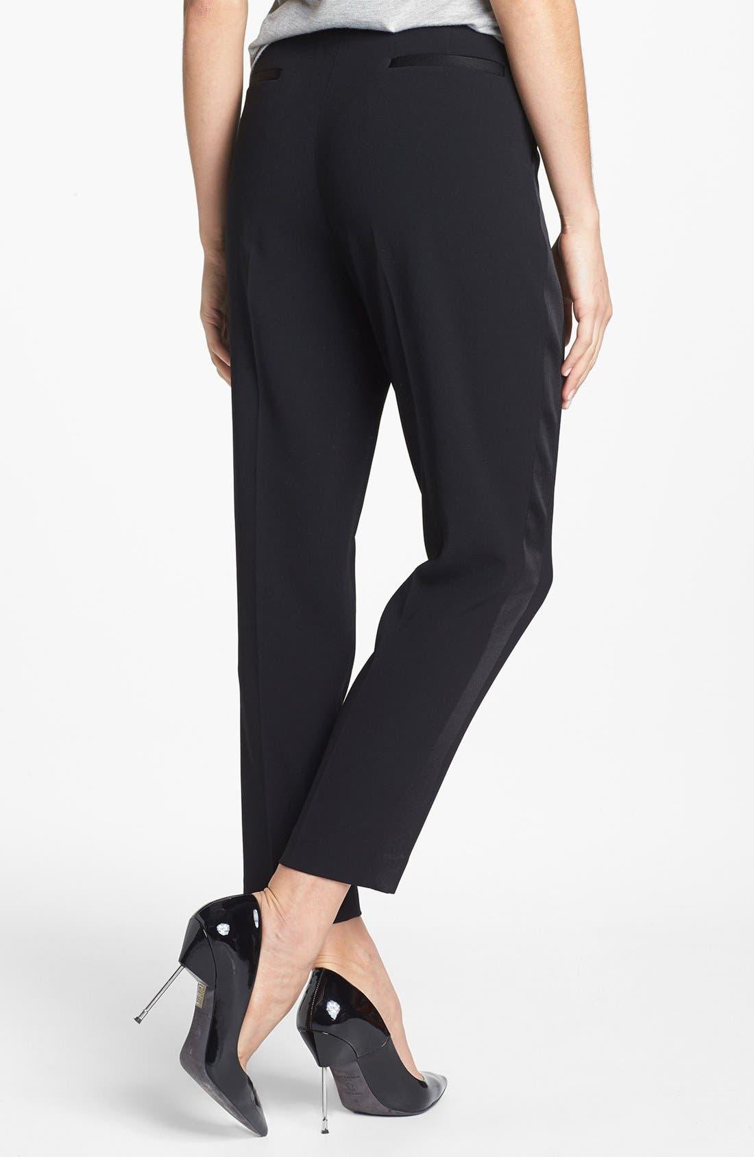 Alternate Image 2  - Trouvé Tuxedo Stripe Crop Pants