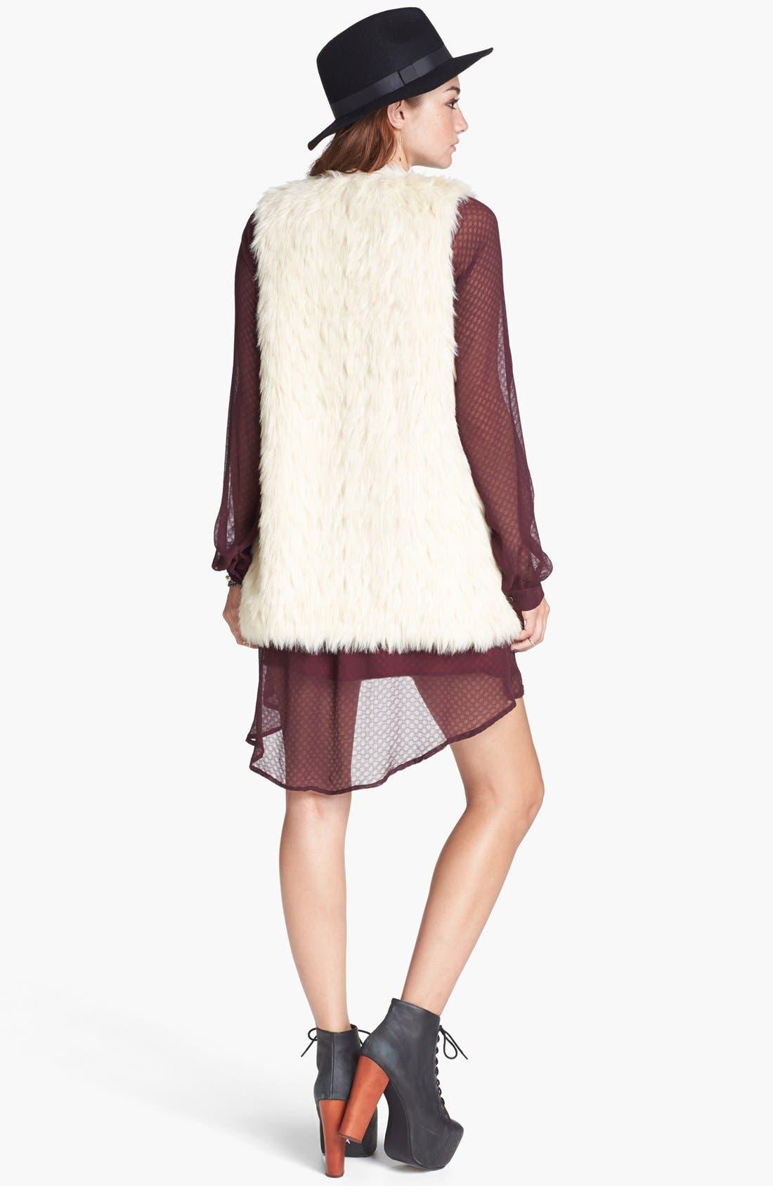 Alternate Image 2  - Jack Faux Fur Long Vest (Juniors)