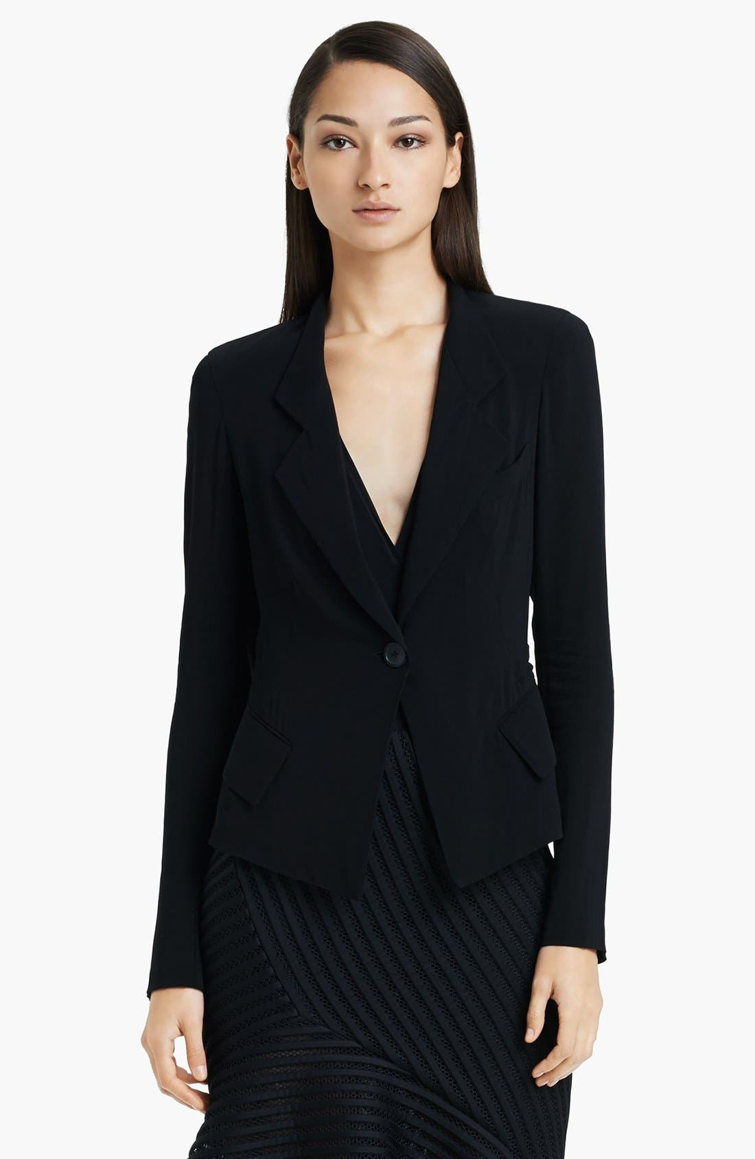 Alternate Image 1 Selected - Donna Karan Collection Stretch Crepe Georgette Jacket
