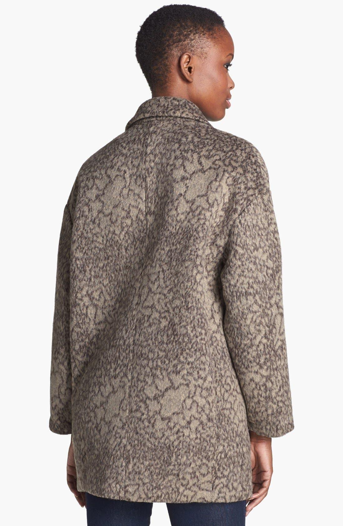 Alternate Image 2  - ASTR Print Oversized Coat