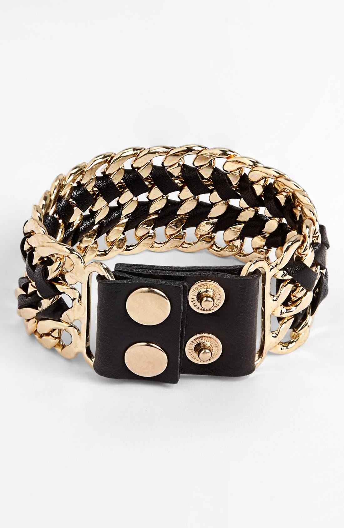 Alternate Image 1 Selected - Carole Chain Cuff Bracelet (Juniors)