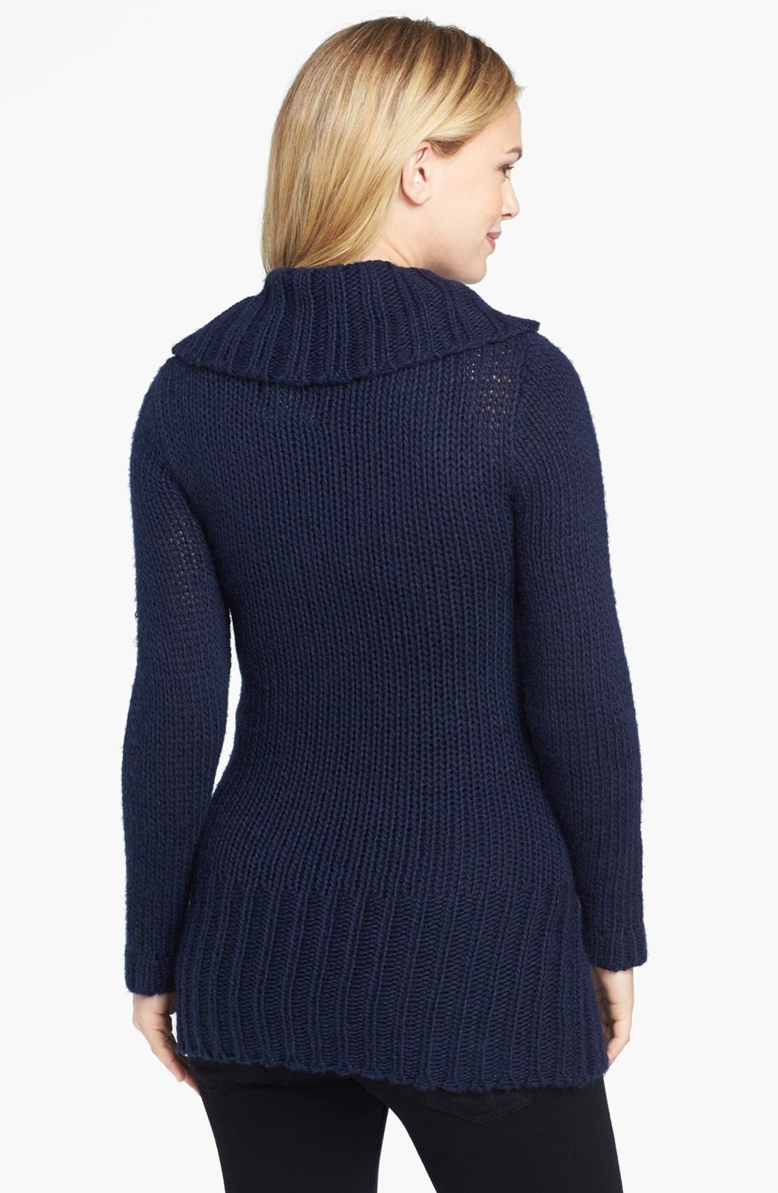 Alternate Image 2  - Olian Cowl Neck Maternity Sweater