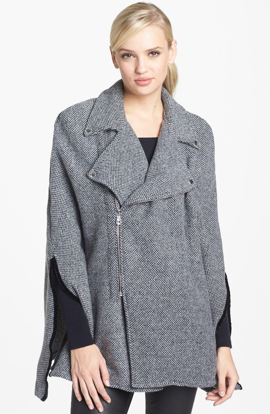 Alternate Image 1 Selected - Lauren Ralph Lauren 'Russian Tweed' Moto Cape