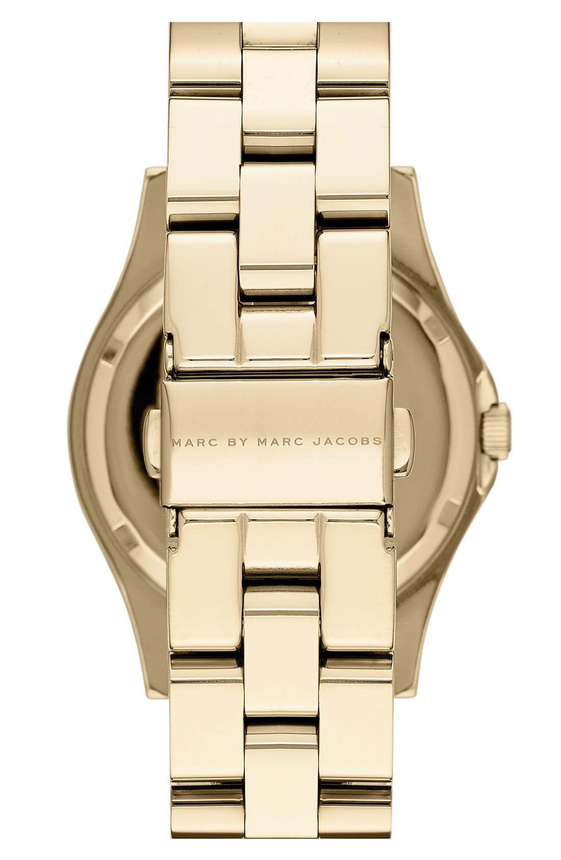 Alternate Image 3  - MARC BY MARC JACOBS 'Henry Glossy Pop' Bracelet Watch, 37mm