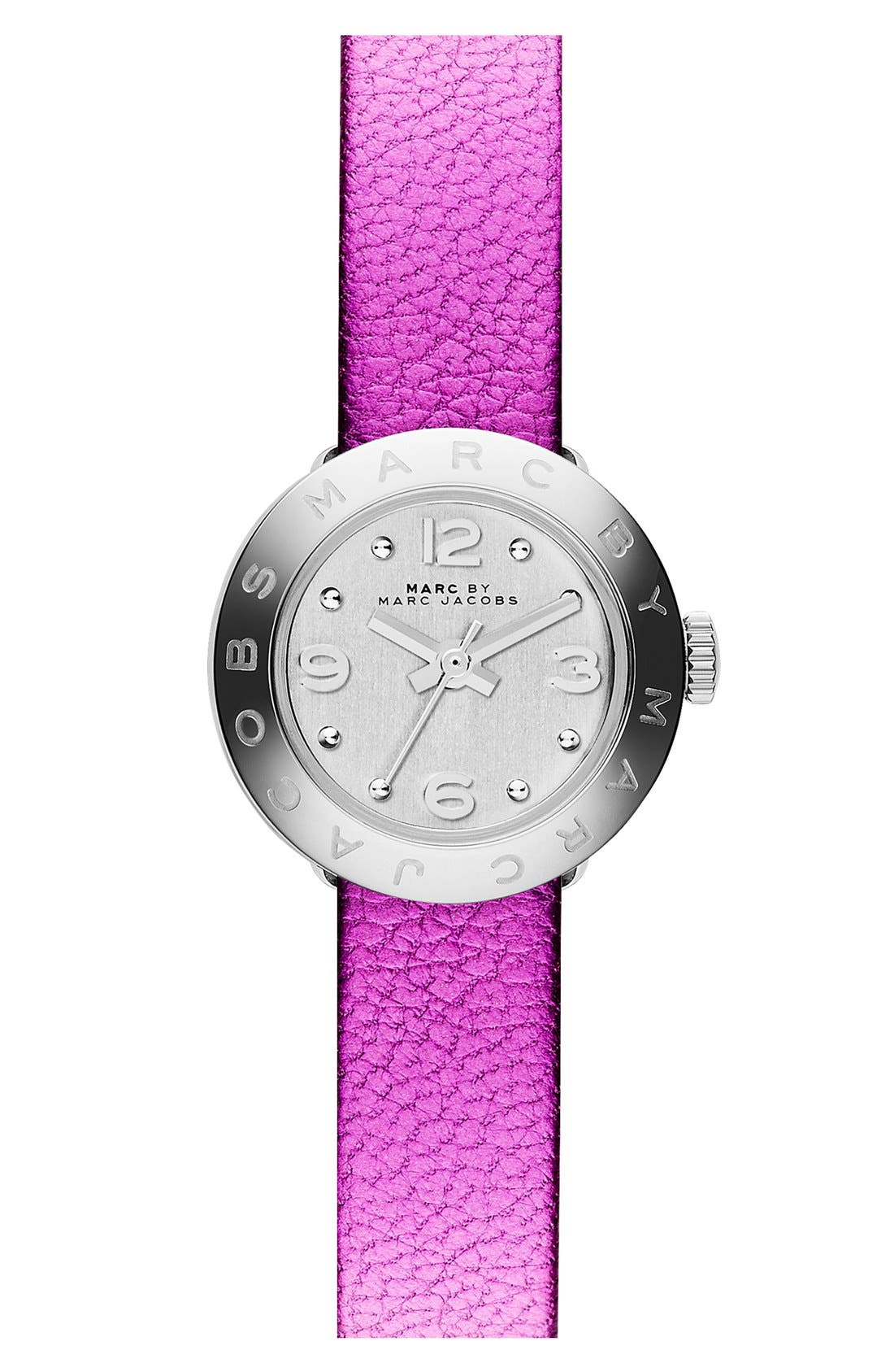 Alternate Image 4  - MARC BY MARC JACOBS 'Amy Dinky' Leather Strap Watch Set, 20mm
