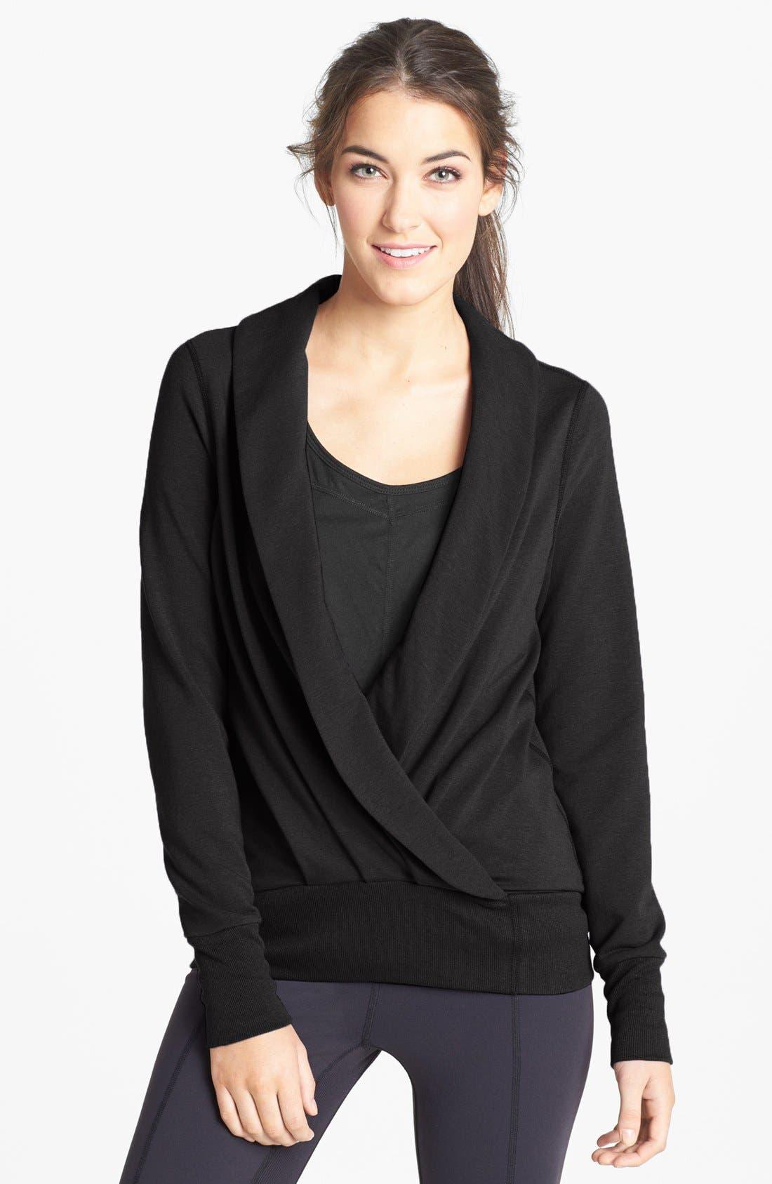 Main Image - Karma Draped Fleece Sweatshirt