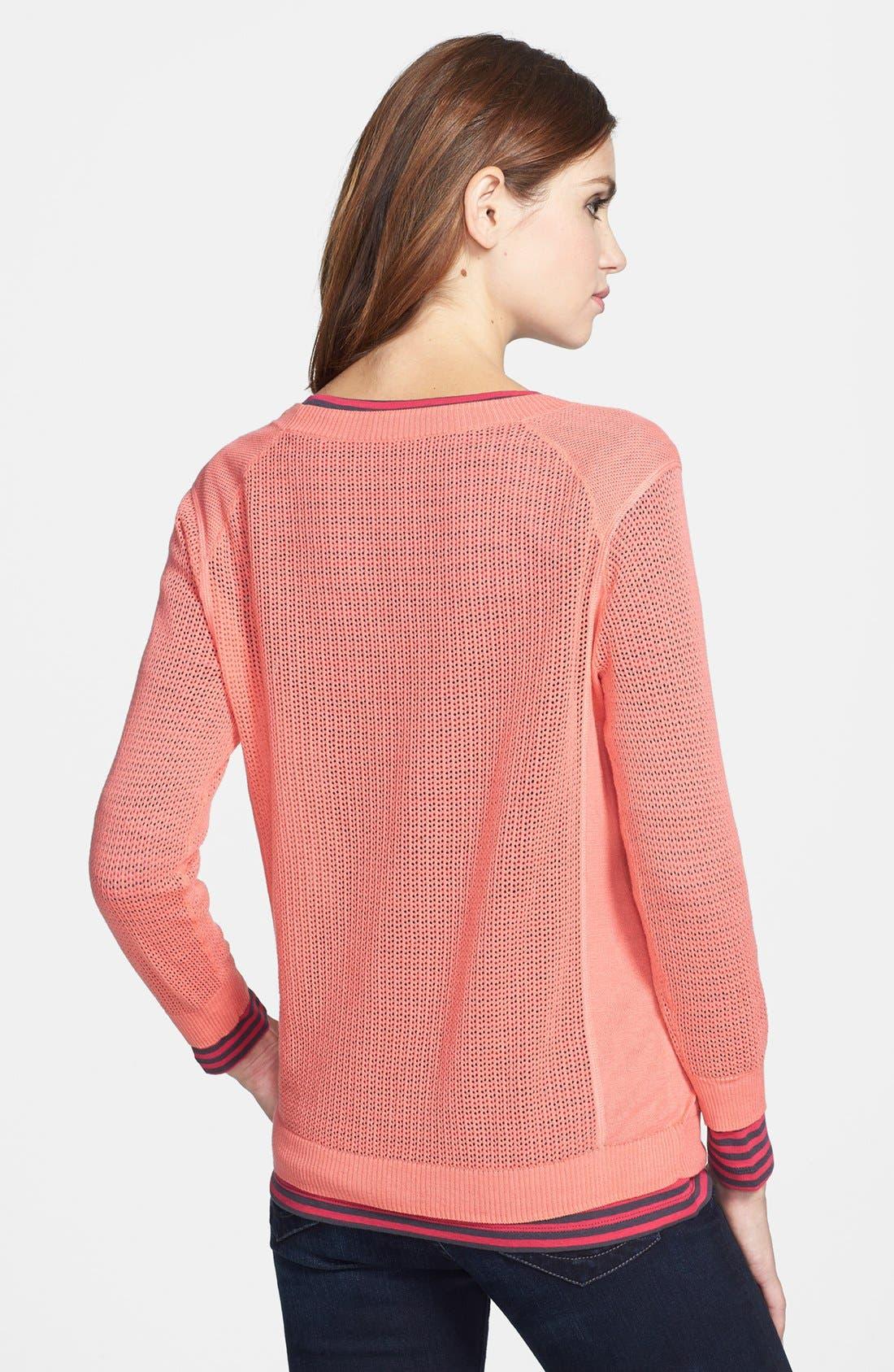 Alternate Image 2  - Halogen® Three Quarter Sleeve Textured Sweater
