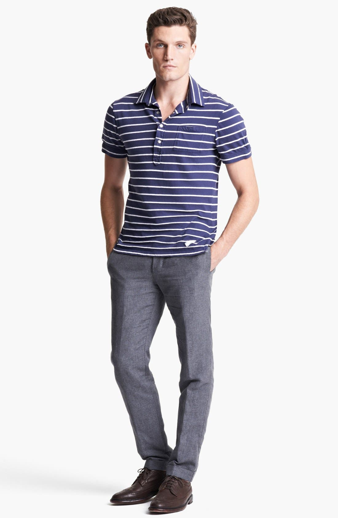 Alternate Image 4  - Michael Bastian Stripe Jersey Polo