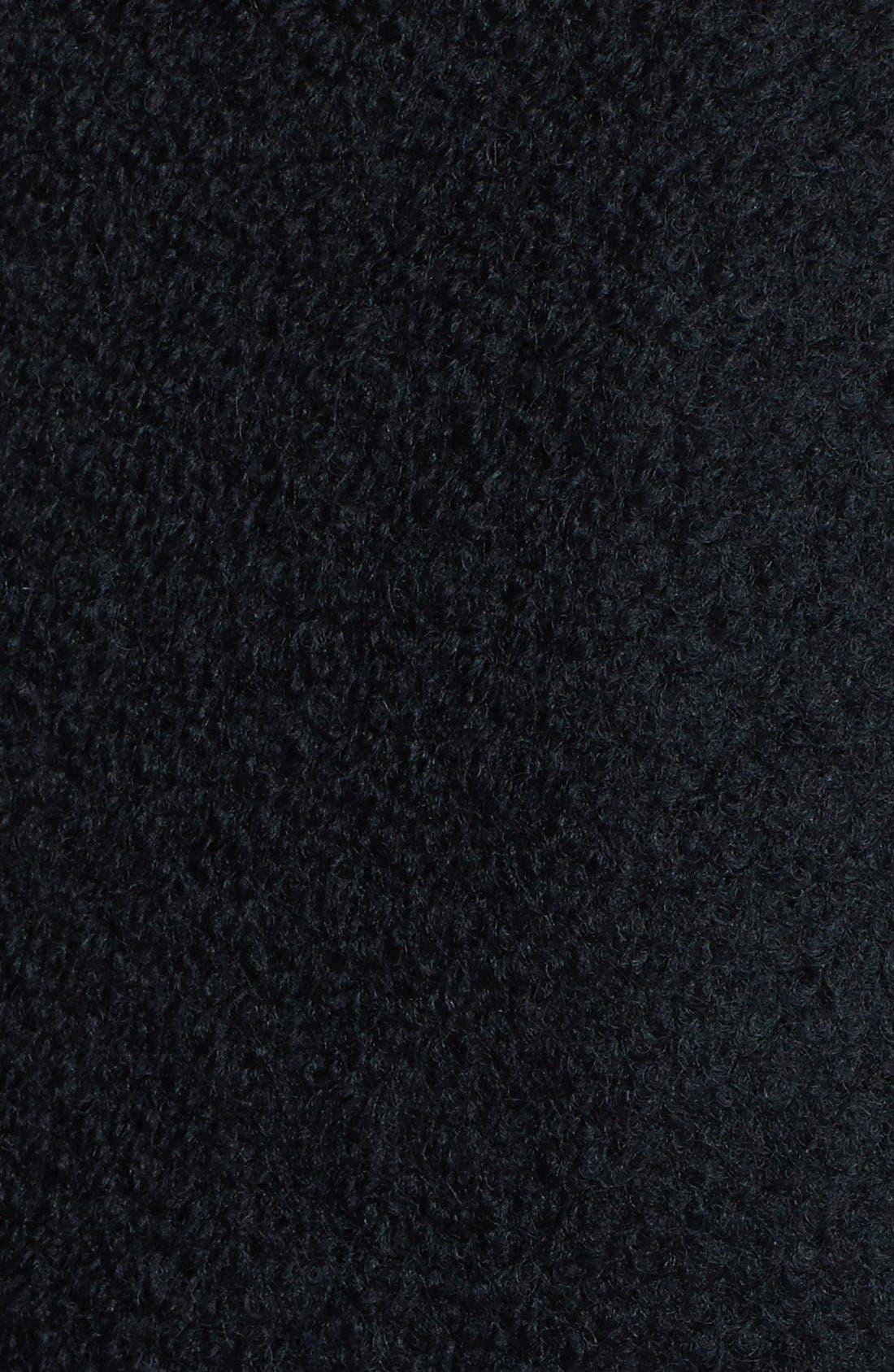 Alternate Image 3  - Steve Madden Faux Leather Sleeve Bouclé Coat