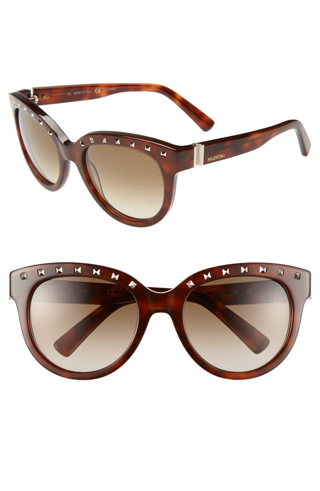 Main Image - Valentino 'Rockstud' 54mm Sunglasses