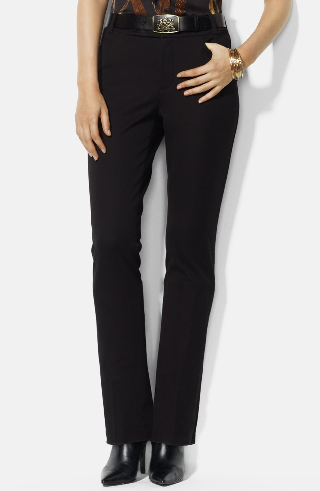 Alternate Image 1 Selected - Lauren Ralph Lauren Stretch Twill Pants (Petite)
