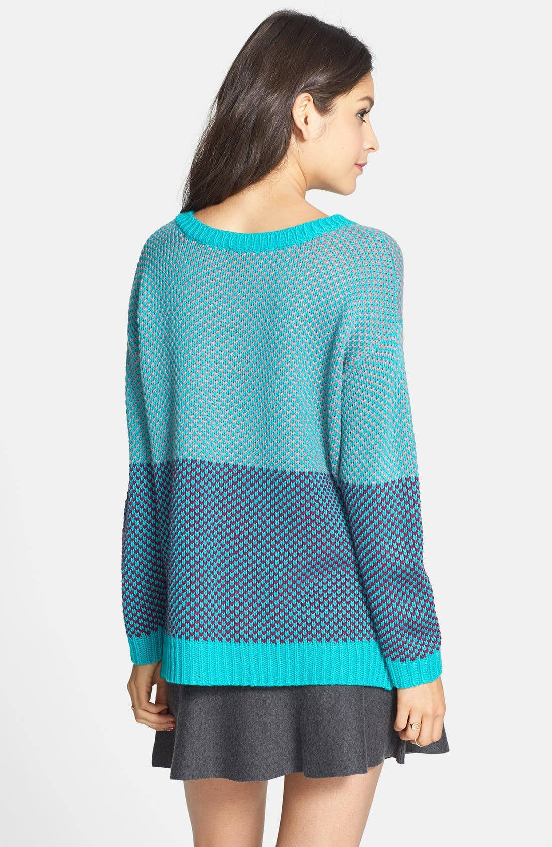 Alternate Image 2  - Love By Design Colorblock Pullover (Juniors)