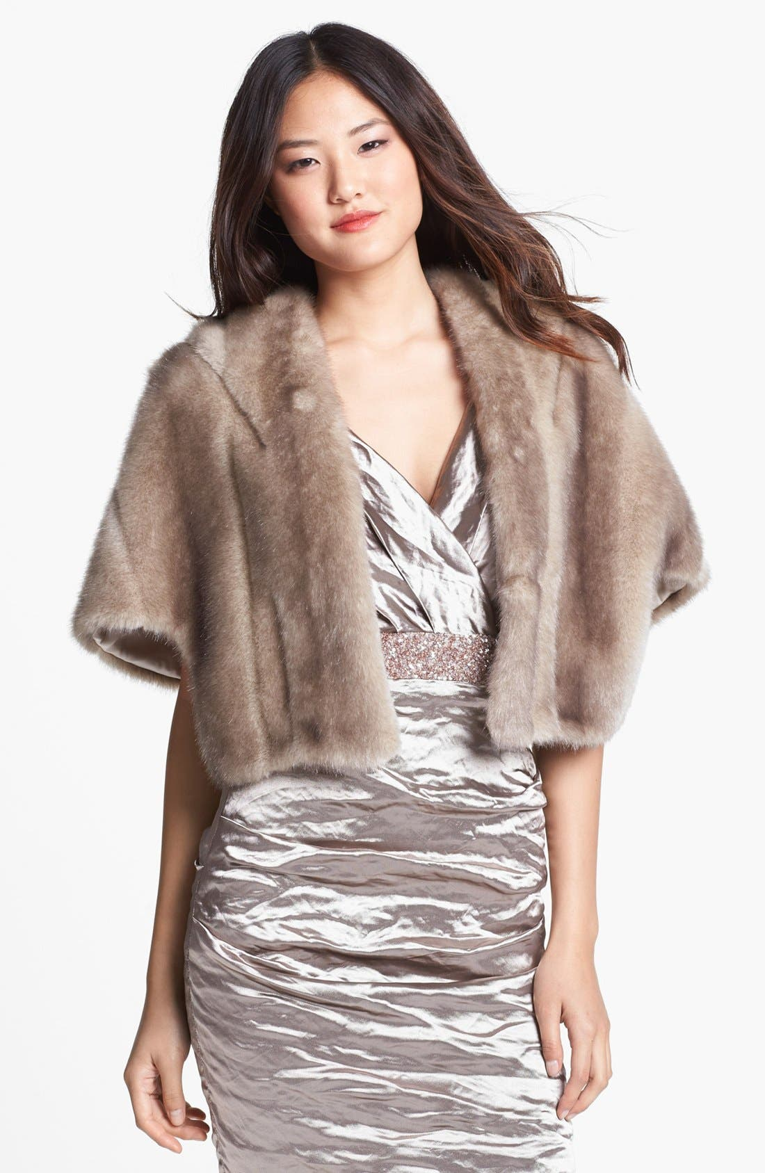 Alternate Image 1 Selected - Eliza J Faux Fur Capelet