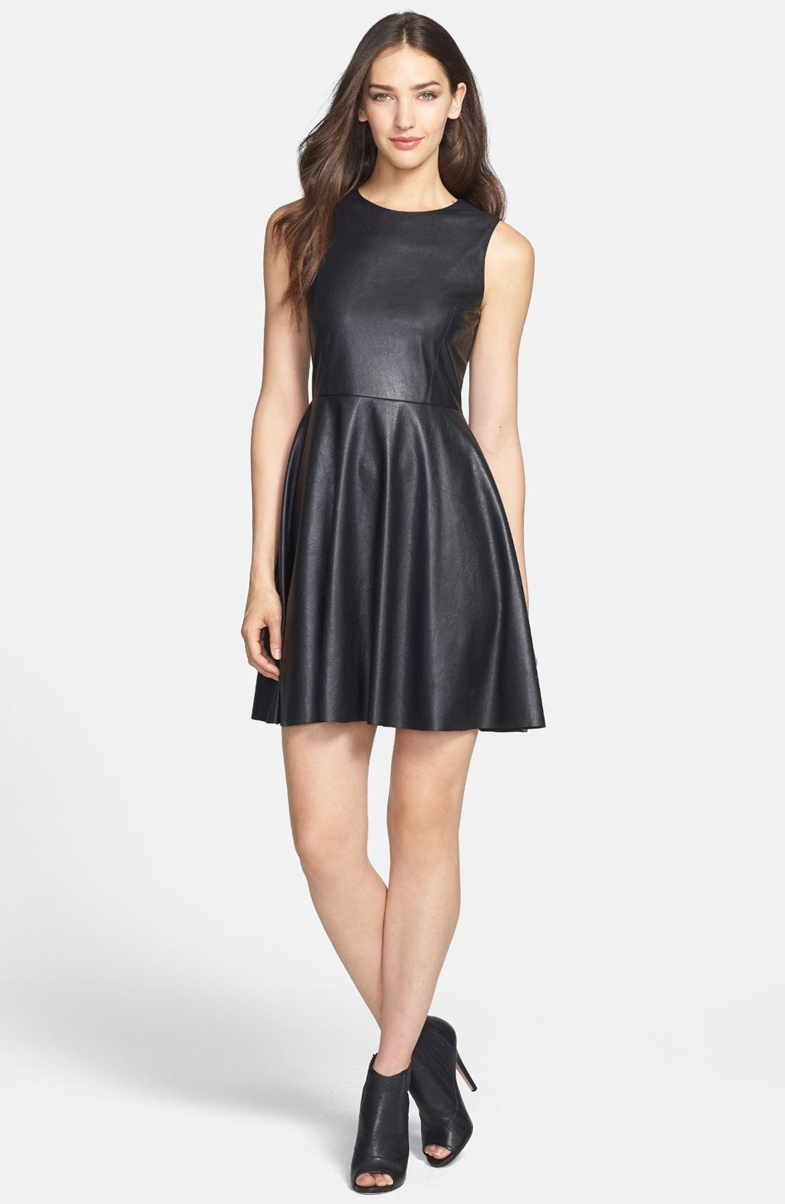 Alternate Image 1 Selected - B44 Dressed by Bailey 44 'Betsy' Faux Leather Fit & Flare Dress