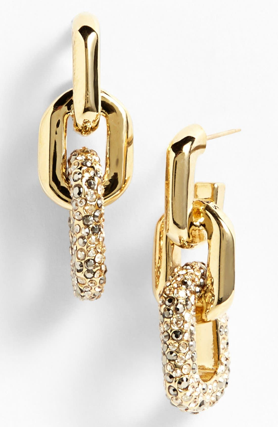 Main Image - St. John Collection Pavé Crystal Chain Link Linear Earrings